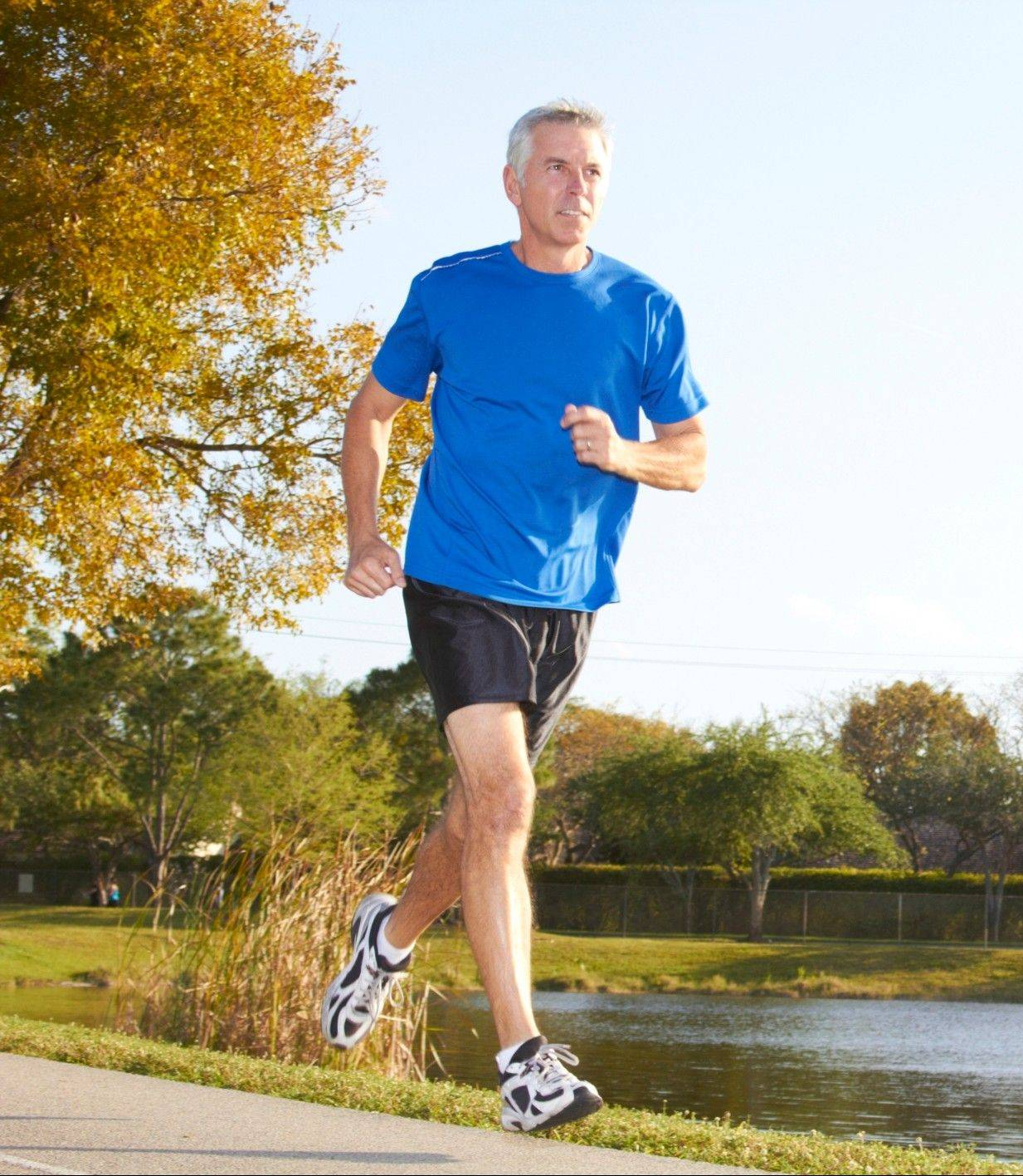 Men can improve many aspects of their health by exercising later in life.