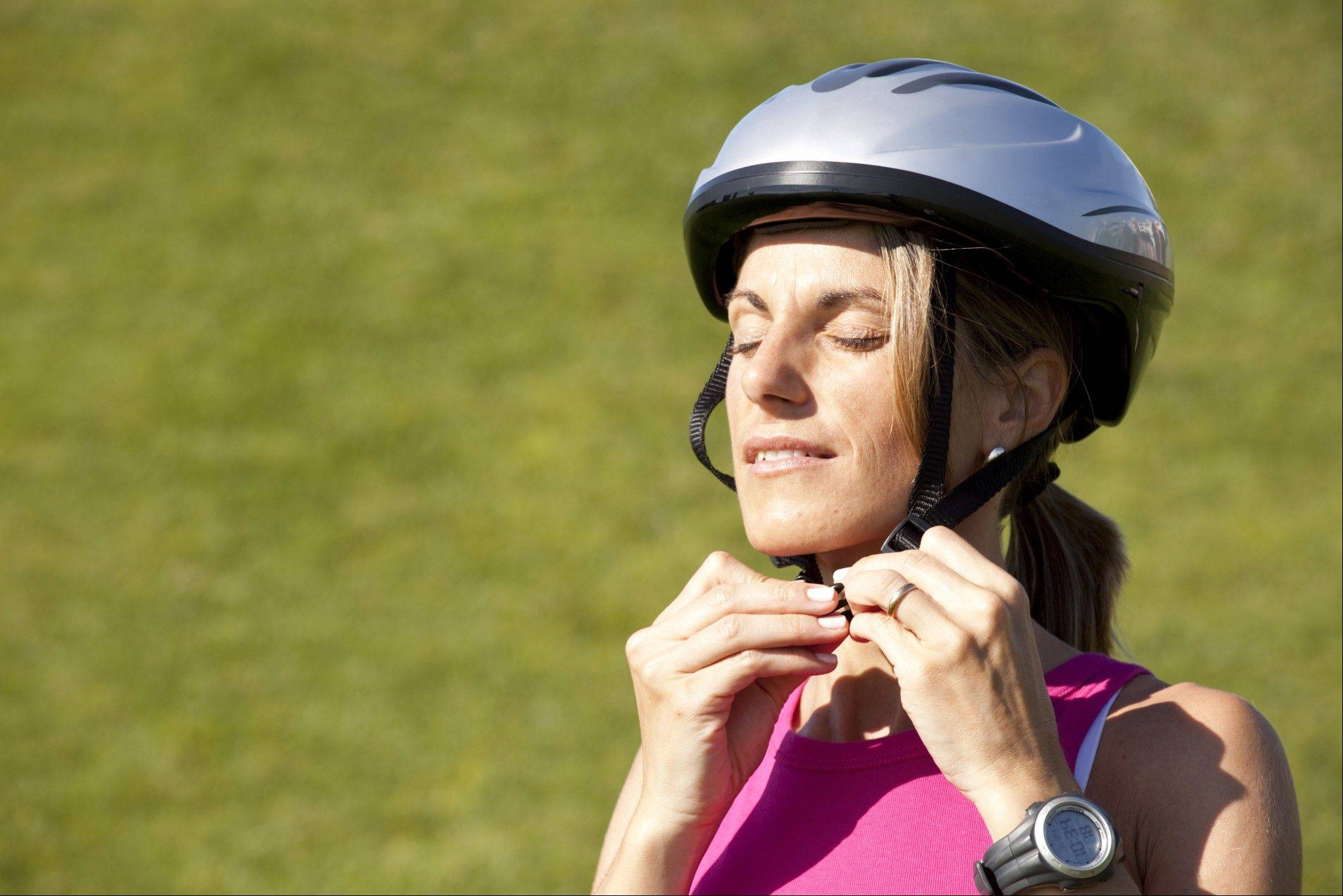 Wearing a bike helmet may help keep you safer in case of a crash or a tumble.