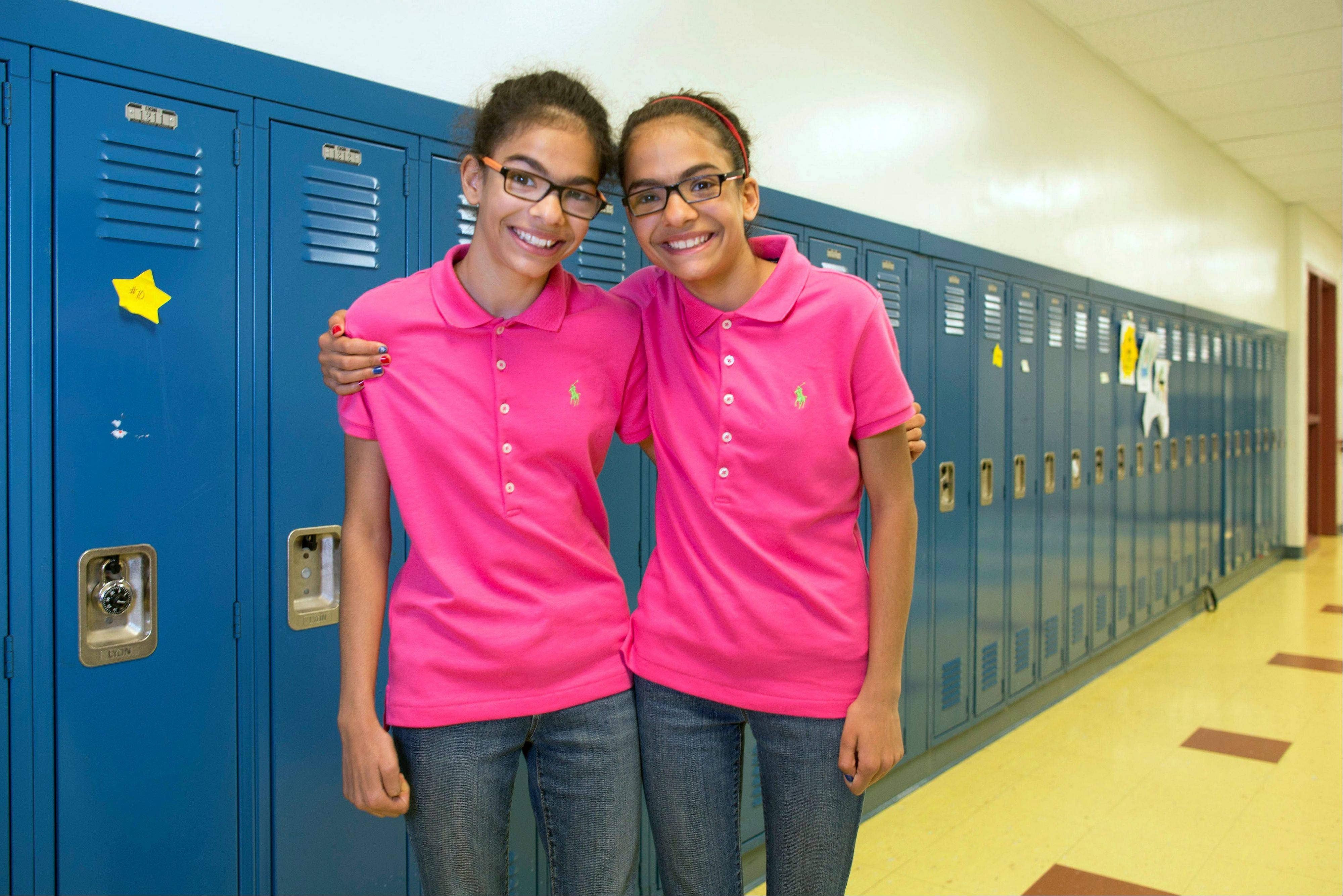 Kiran Awatramani, left, and her twin sister, Chiara.
