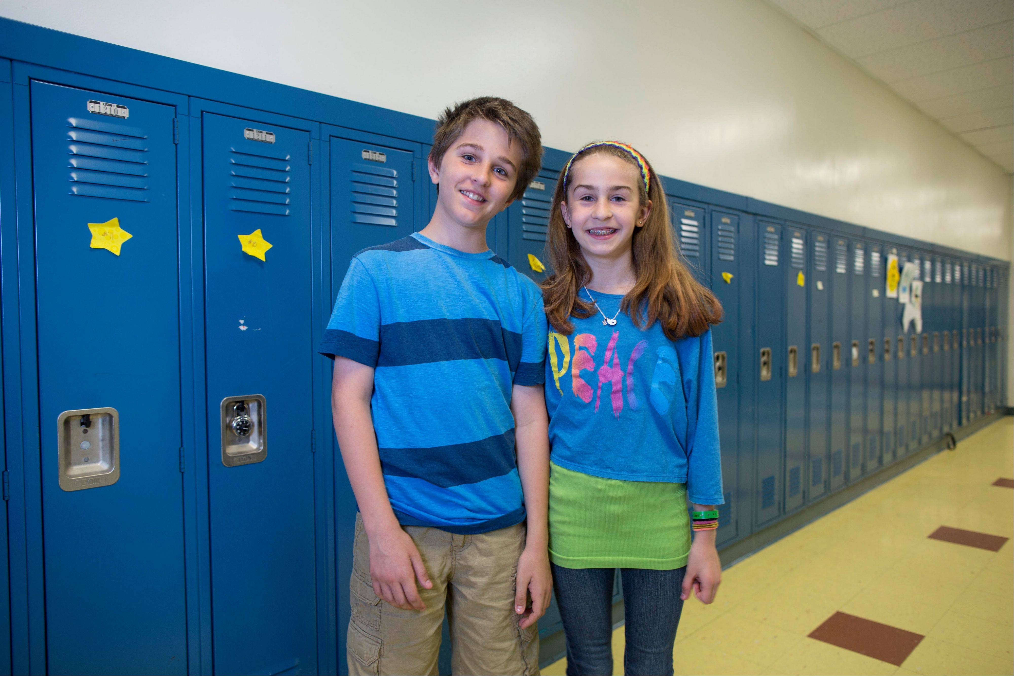 Evan Prendergast and his twin sister, Olivia.