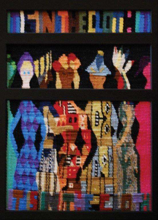 """Ceremonial Semblance: It's in the Cloth,"" by Tori Kleinert of Kentucky, is the first-place winner in the Small Expressions weaving exhibit on display through Sept. 7 at the Fine Line Creative Arts Center in St. Charles."