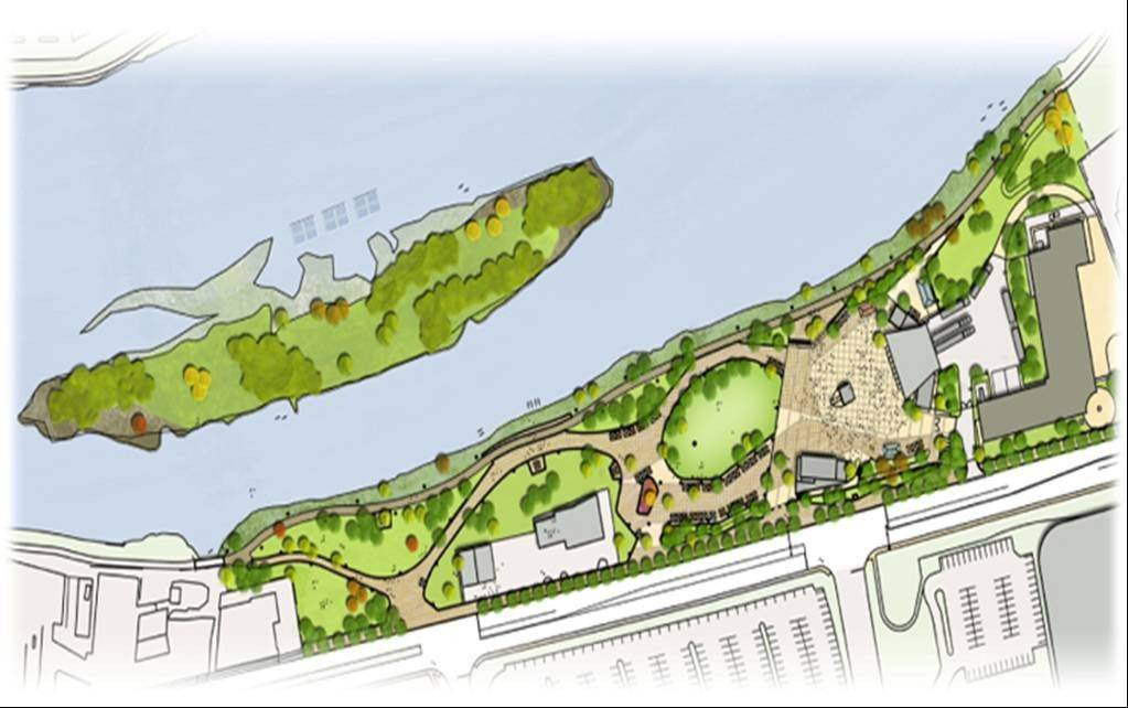 Aurora officials say the Music Garden at RiverEdge Park looks remarkably similar to renderings of the venue, designed beginning in 2007 and tweaked only slightly since then.