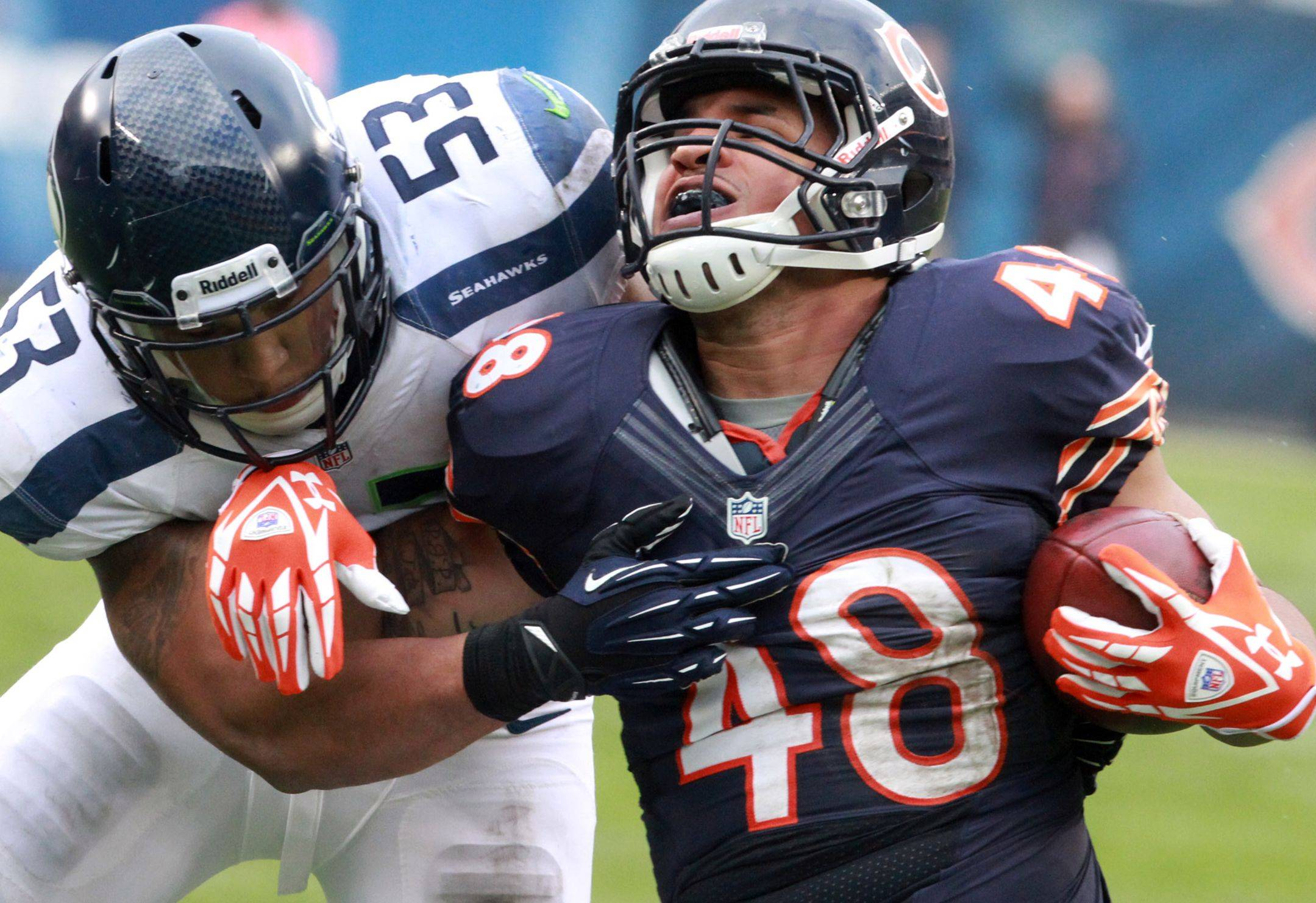 The Bears released fullback Evan Rodriguez on Monday morning. A fourth-round draft pick in 2012, Rodriguez played in 12 games last season.