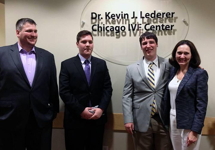 Dr. Lederer's wife, three sons, two brothers and their families were present to accept his honor in the naming of the Kevin J. Lederer Chicago IVF Center.