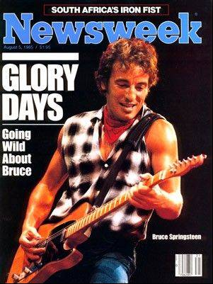 Paul Natkin's photos of rock musicians have been featured on many magazine covers, including this one of Bruce Springsteen on Newsweek.