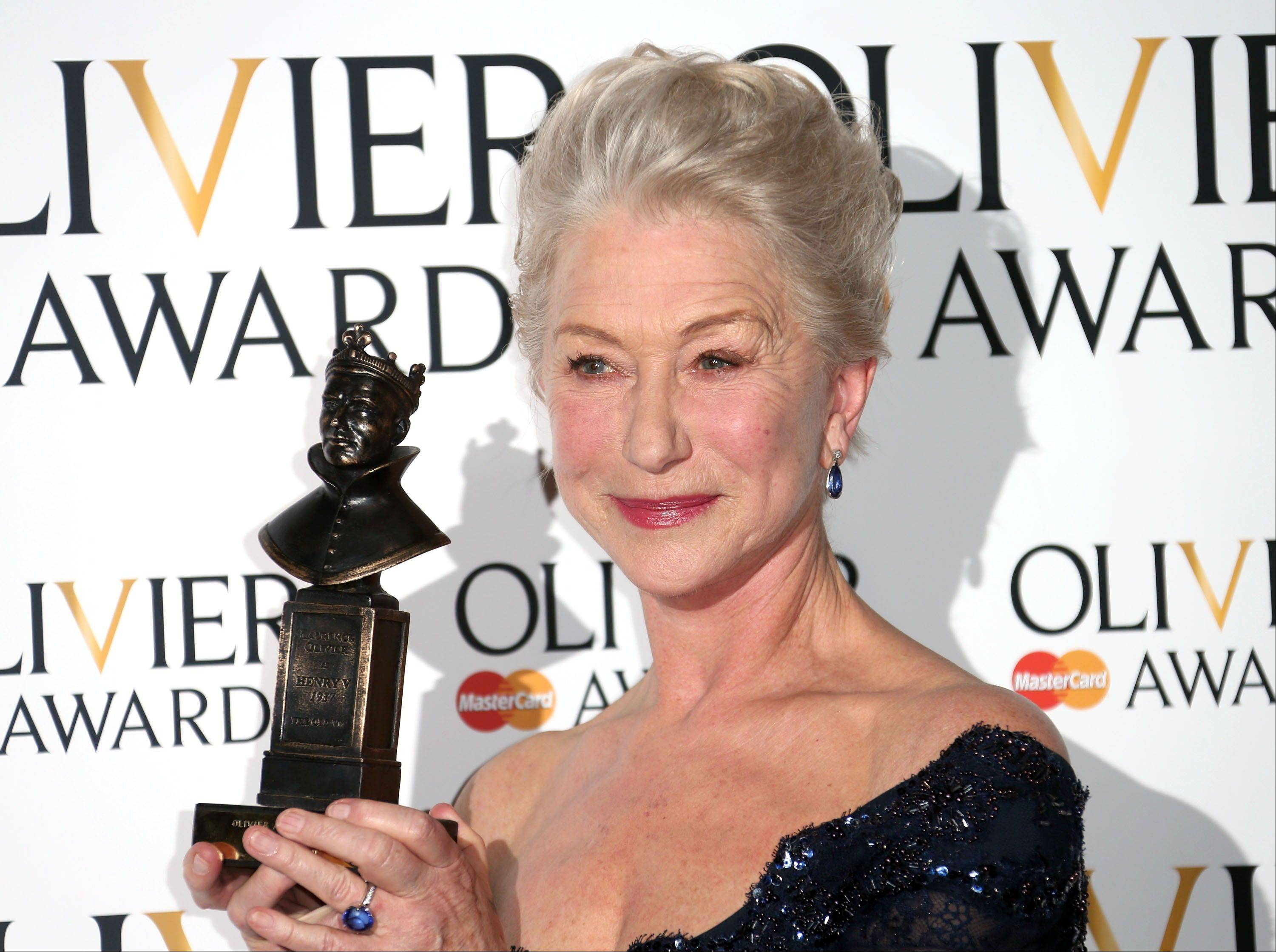 "Helen Mirren's award-winning performance as Queen Elizabeth II in ""The Audience"" will be beamed this week from London's Gielgud Theatre to hundreds of movie theaters around the world in a live broadcast."