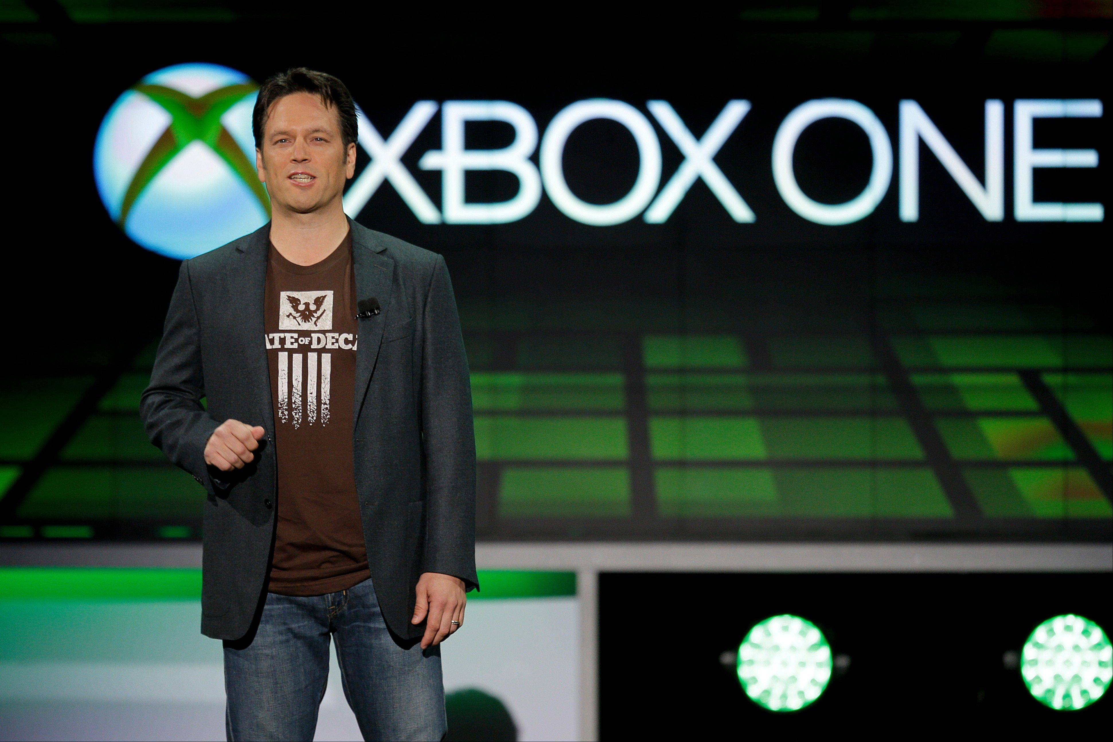 Phil Spencer of Microsoft Game Studios speaks at the Microsoft Xbox E3 media briefing in Los Angeles, Monday
