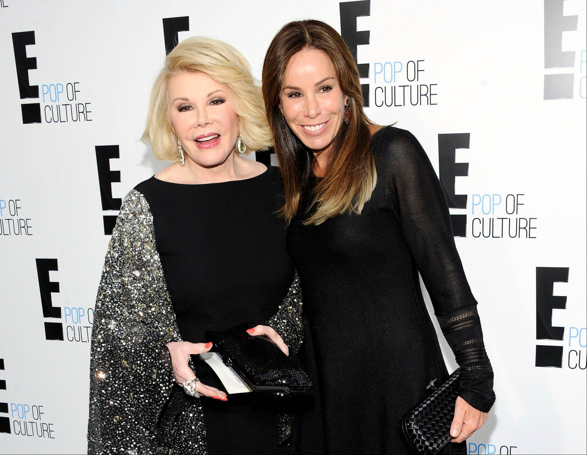 "Joan Rivers, seen here with daughter Melissa, turned 80, a milestone that has prompted the E! network to celebrate. Its regular one-hour edition of ""Fashion Police"" will be a black-tie birthday salute."