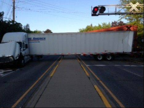 Police have cited a California truck driver blamed for a May 23 crash with a freight train at the Canadian National railroad crossing with Route 14 in Barrington.