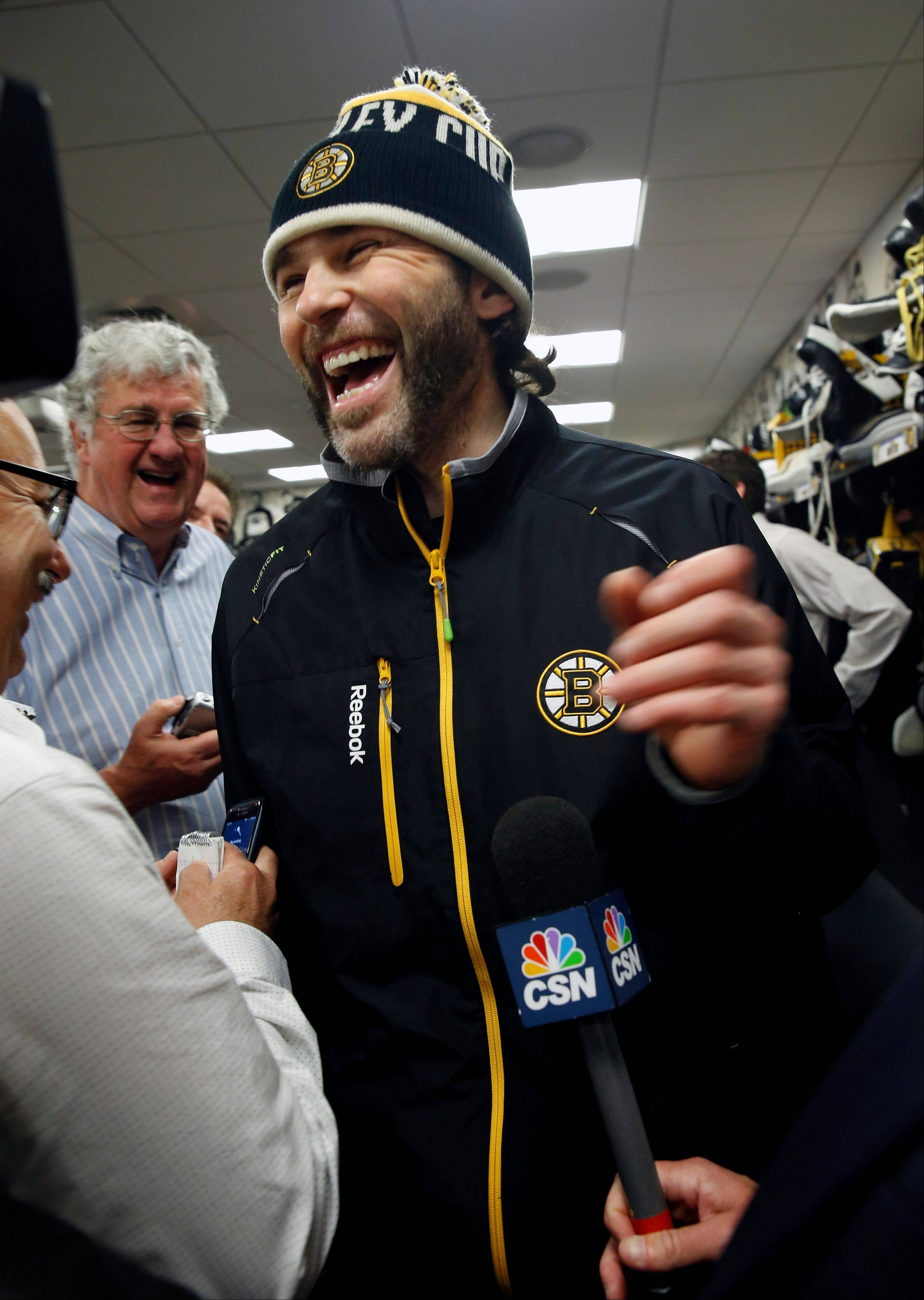 The Bruins' Jaromir Jagr was 20 years old and playing for Pittsburgh in 1992 when the Penguins swept the Blackhawks in the Stanley Cup Finals.