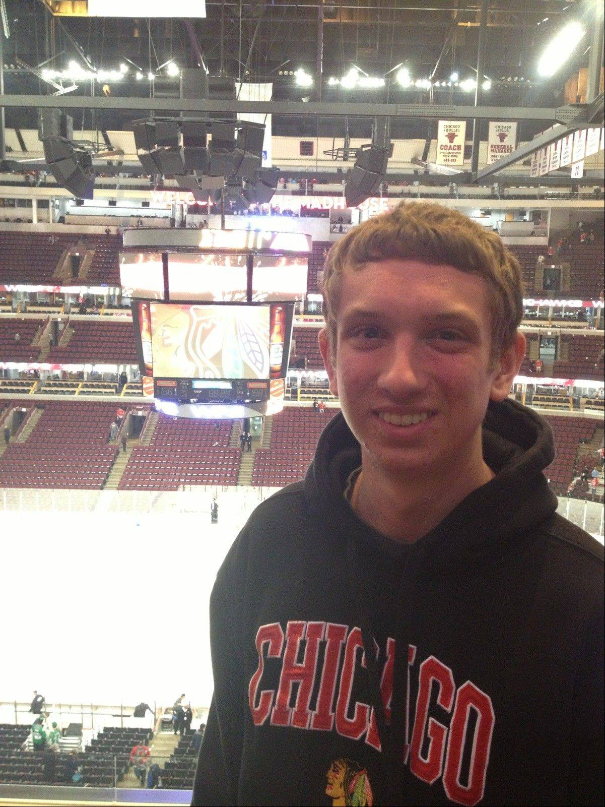 Jeremy Wittenberg of Carol Stream has spent the last 5 birthdays at A Hawks game with friends. Some of which included Limo rides and skyboxes.