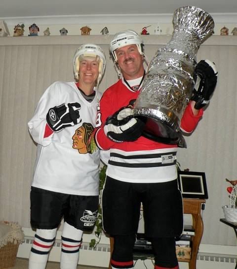 Valerie and Mark Gaylord after the 2010 Stanley Cup-at Halloween