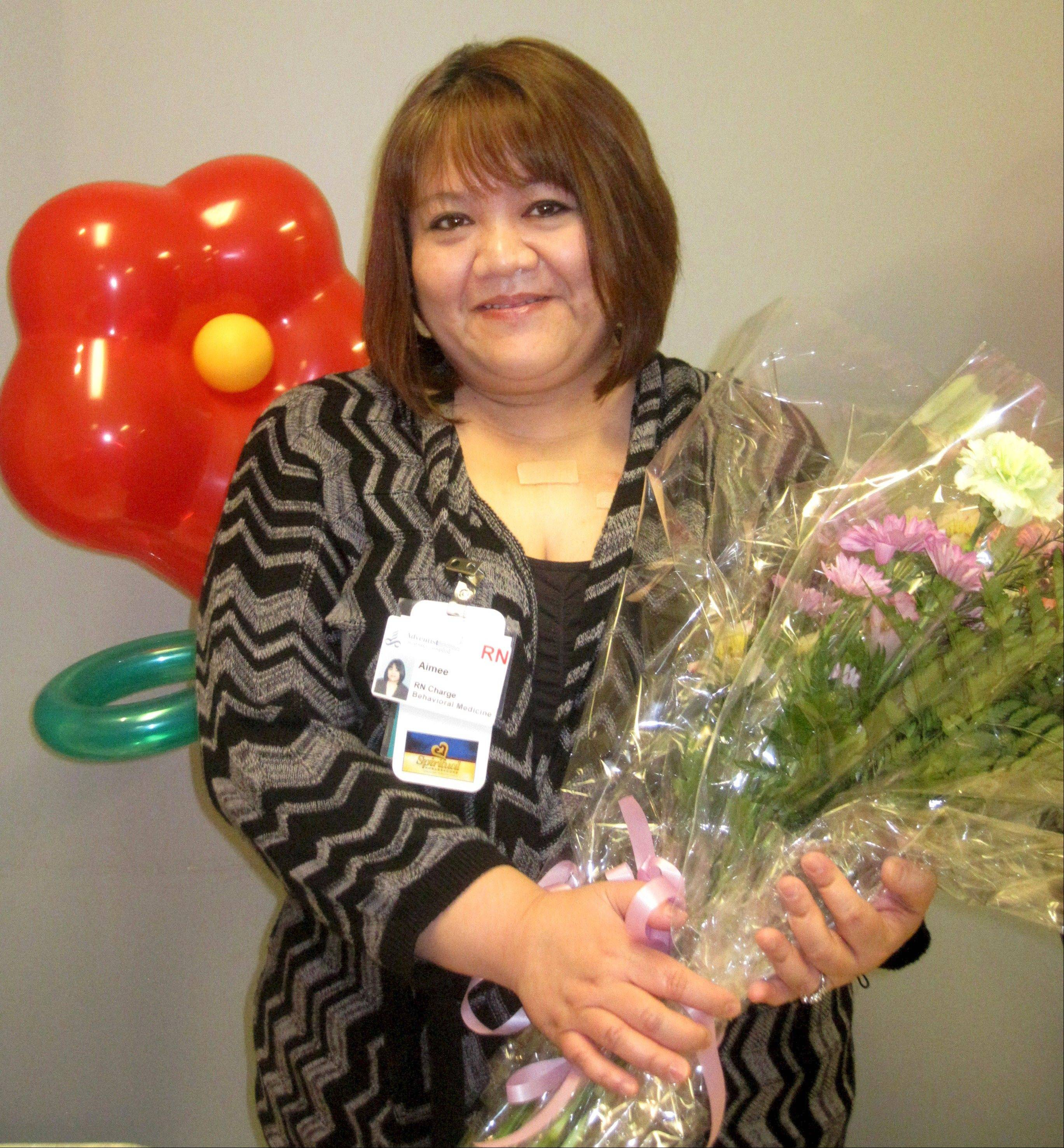 Amelissa Sarrol, of Glendale Heights, was named Adventist GlenOaks Hospital's Nurse of the Year.