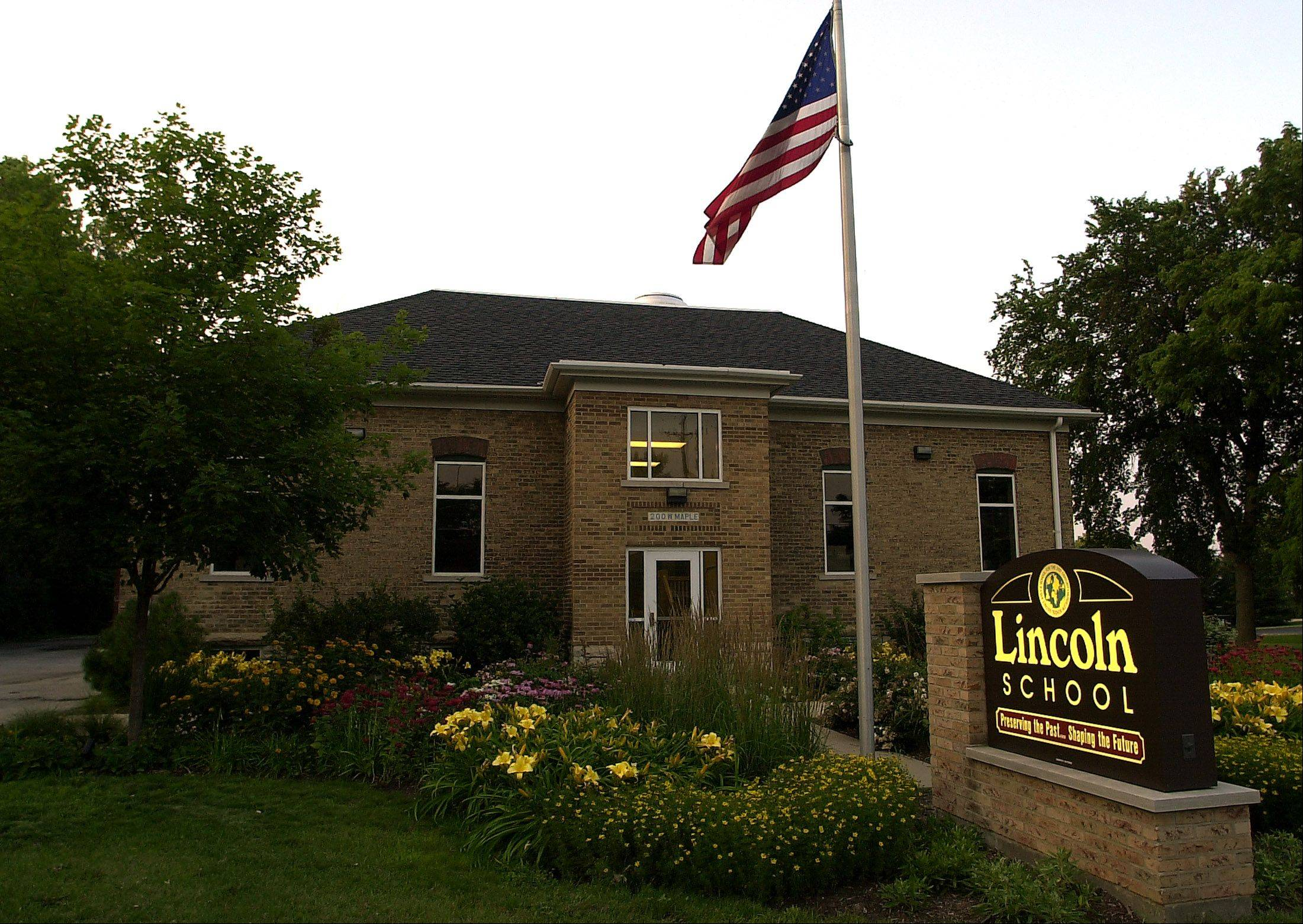Lincoln School on Route 176 in Mundelein was built in 1894 as a two-room country school. Hawthorn District 73 may lease an addition on the northeast side in the coming school year.