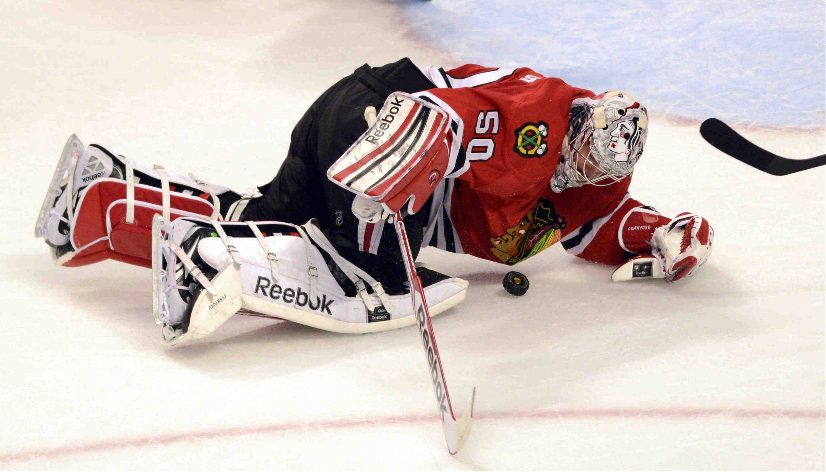 Blackhawks goalie Corey Crawford has won 12 playoff games after going 19-5-5 with a 1.94 goals-against average during the regular season. He has outplayed the Wings� Jimmy Howard and the Kings� Jonathan Quick. Tuukka Rask of the Bruins is next.