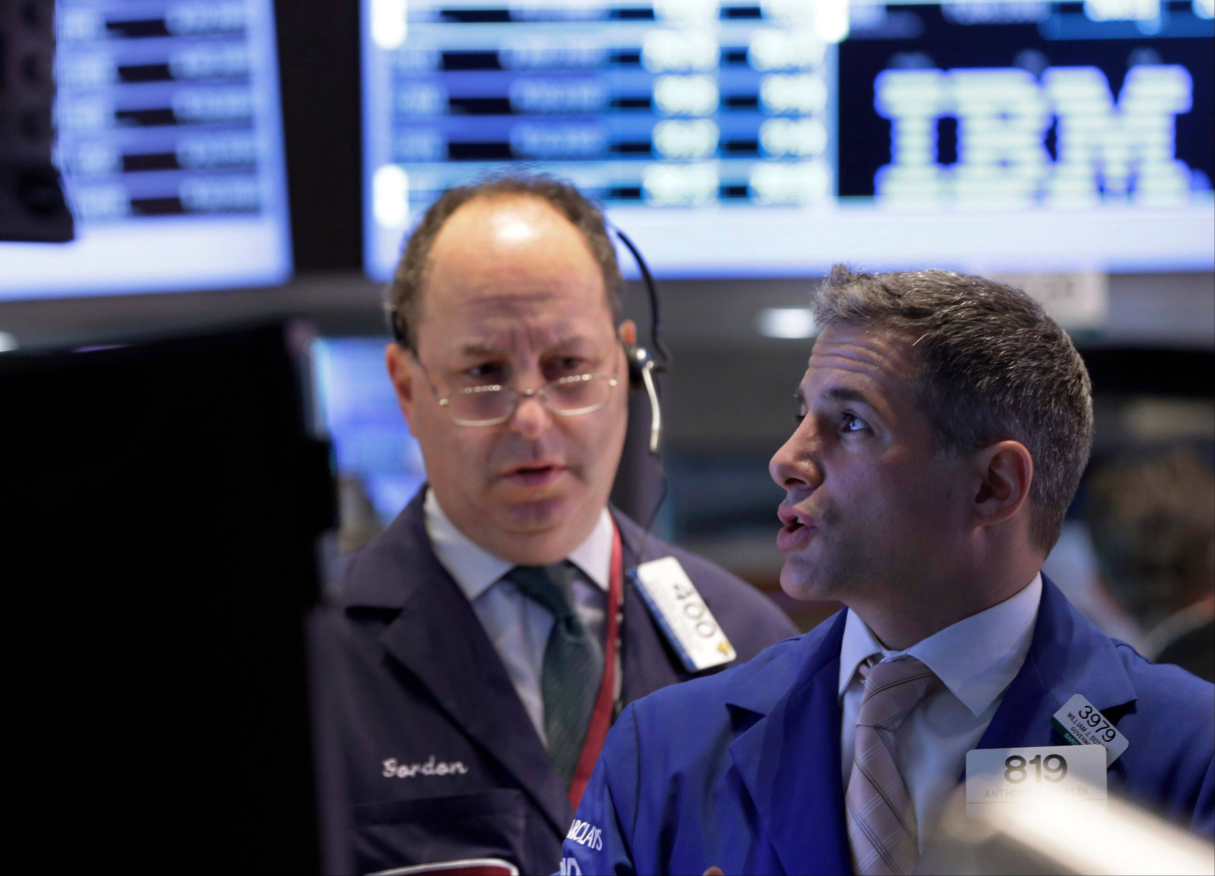 U.S. stocks fell, with the Dow Jones Industrial Average posting its first three-day losing streak this year, as investors weighed prospects for economic growth and the pace of Federal Reserve stimulus measures.