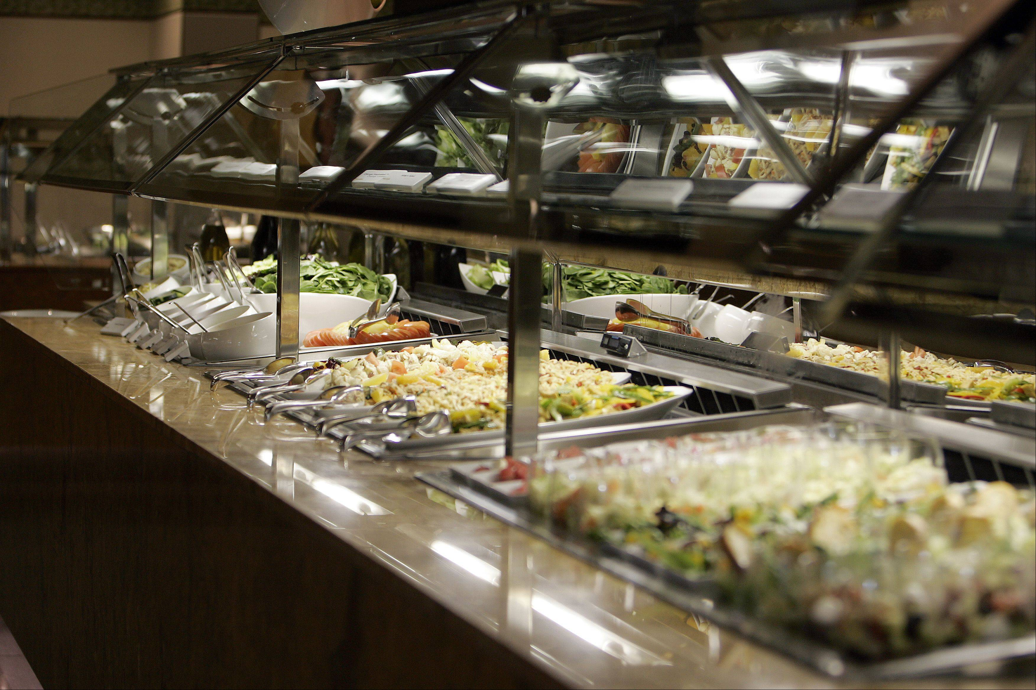 The buffet at Grand Victoria Casino in Elgin was recently remodeled to include global fare and live cooking stations.