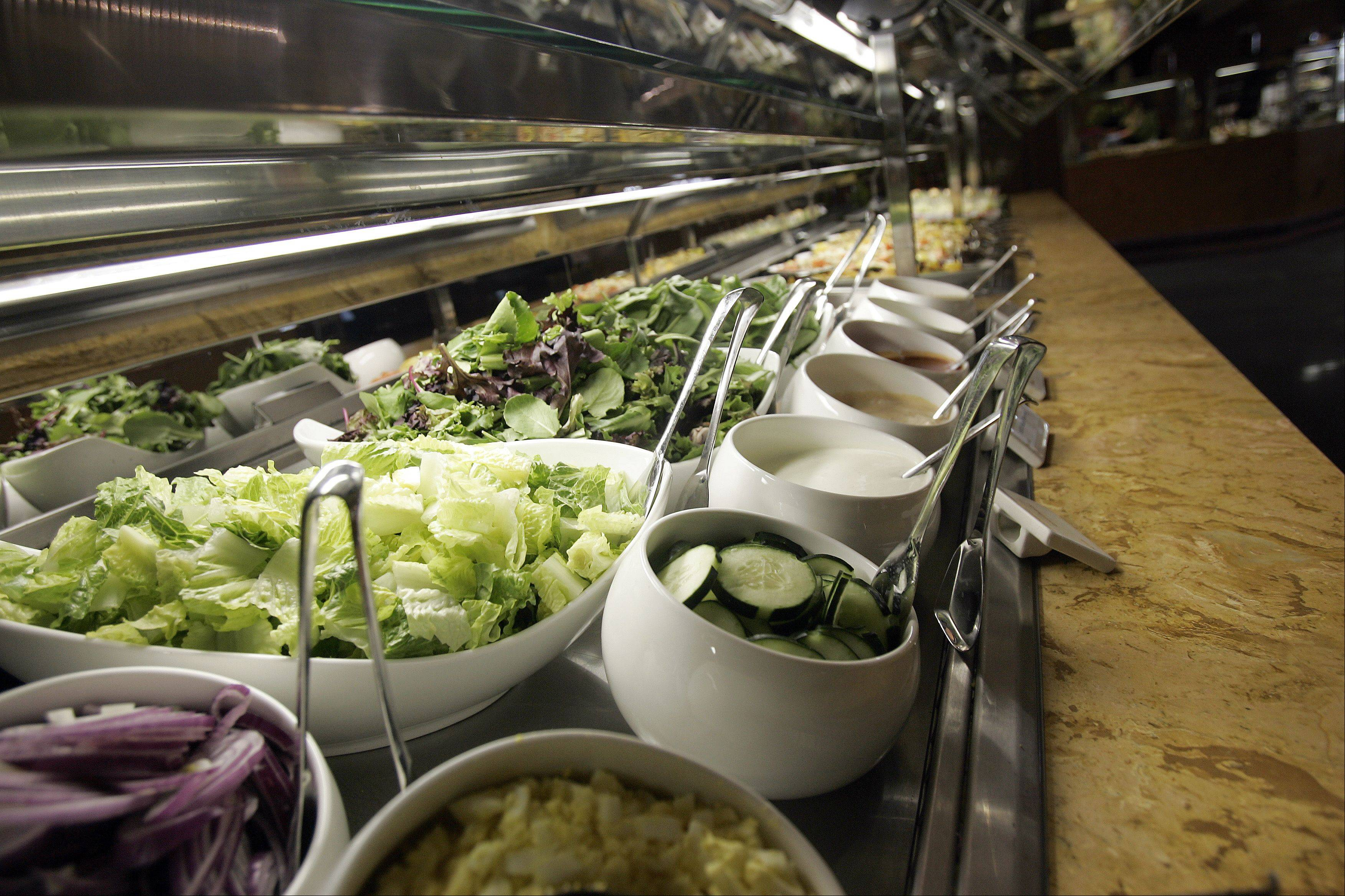 An array of salads is available Indulge Buffet at the Grand Victoria Casino in Elgin.