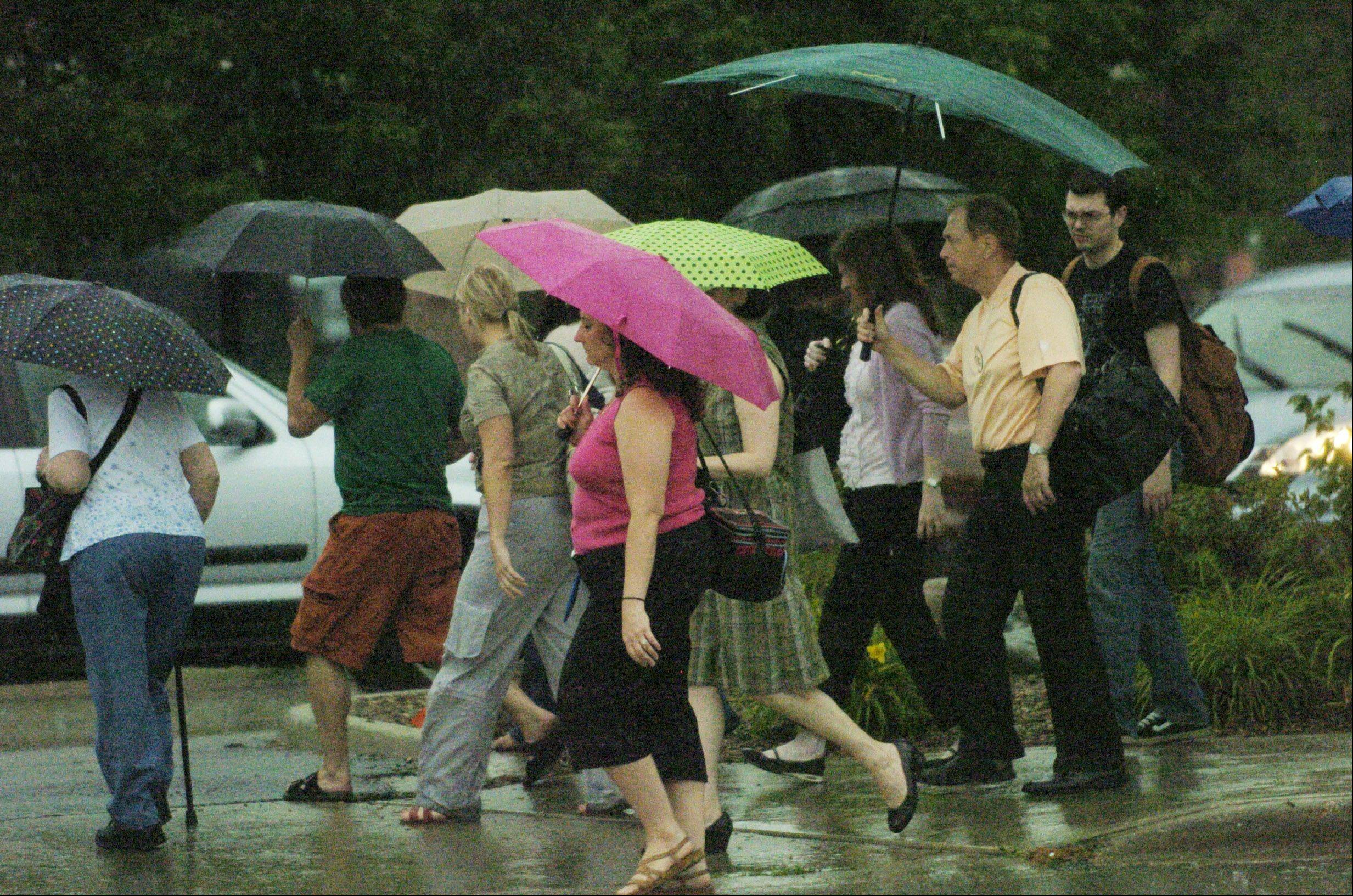 Daily Herald File PhotoCommuters should expect delays today because of rainstorms.