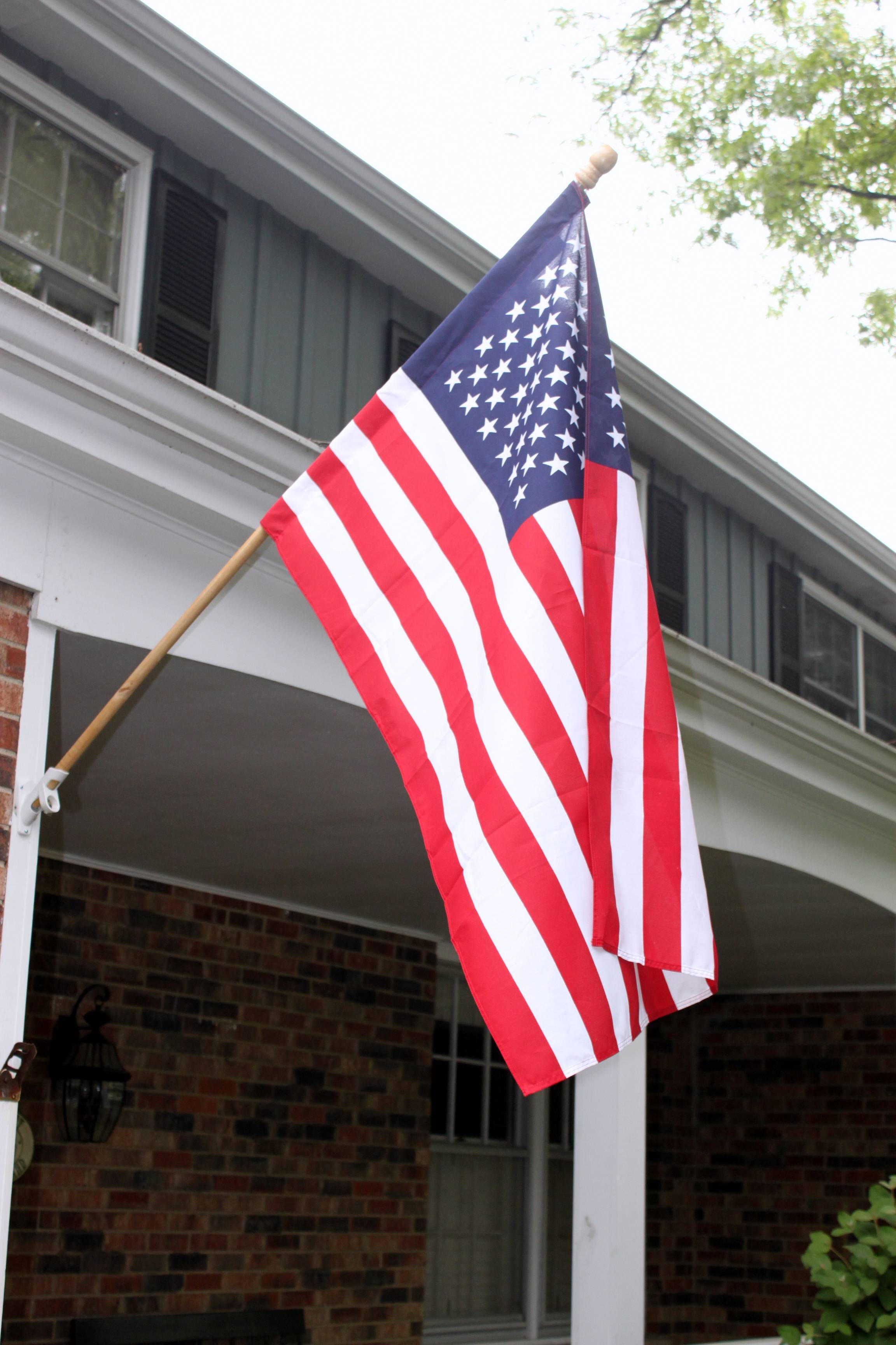 A flag in need of retirement should be disposed of properly and never placed in the trash, Waste Management says.