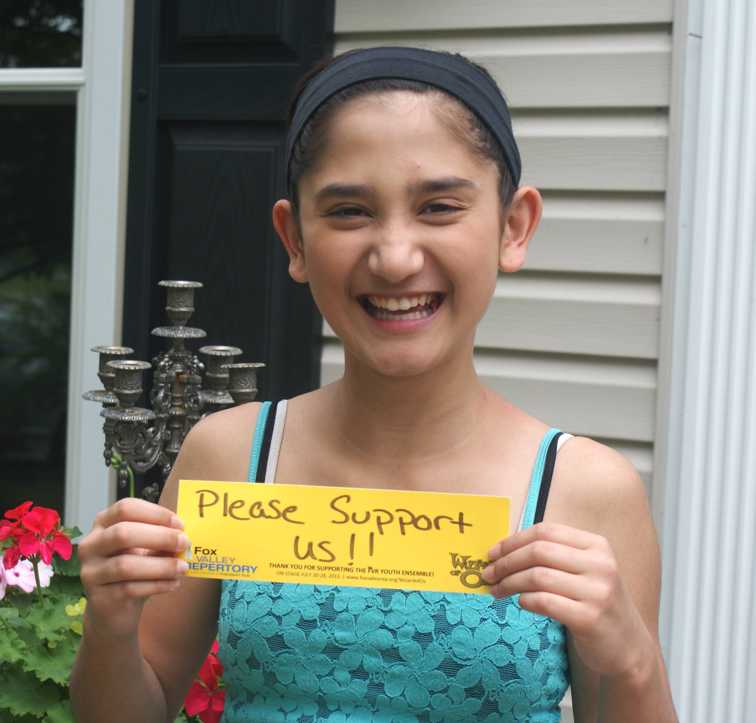 Cast Member Ana Powell of Geneva wants YOU to help support Fox Valley Rep and FVR's Performing Arts Academy!
