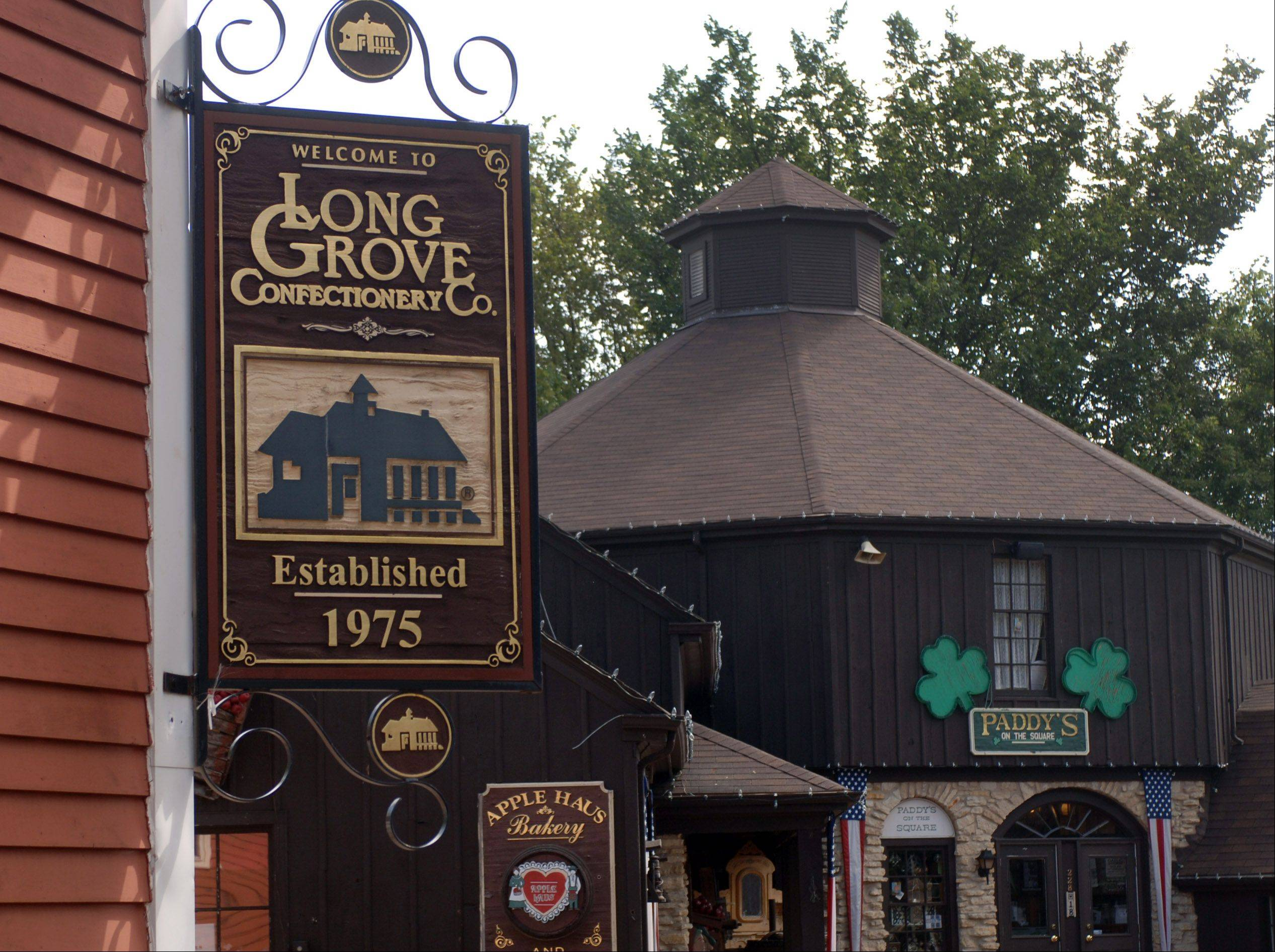 The Long Grove Confectionery Co. is a favorite shopping spot in Long Grove.