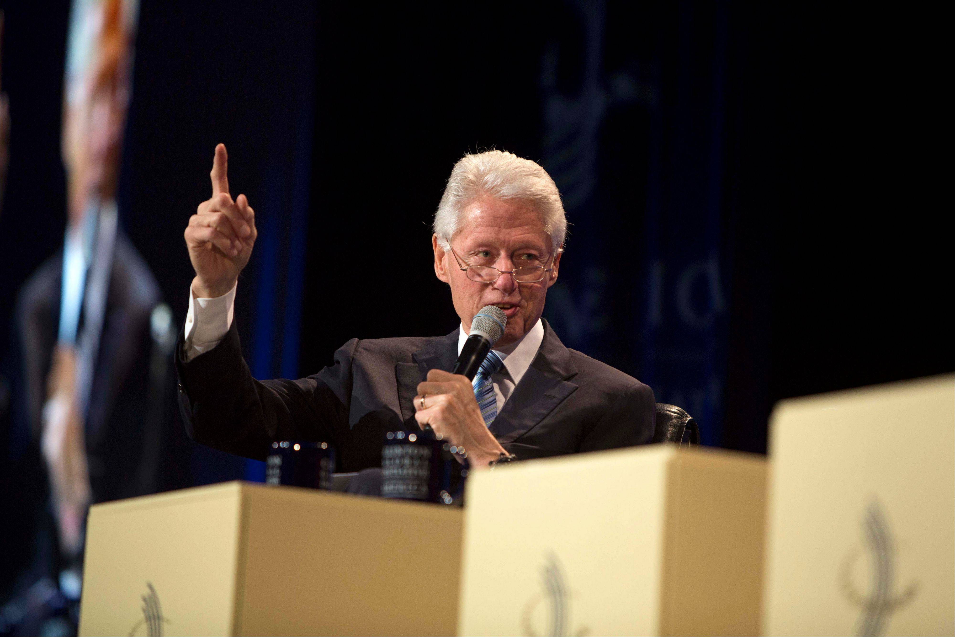 Former President Bill Clinton was joined by other politicians and business leaders Thursday in Chicago to discuss new ways to achieve economic and social mobility.