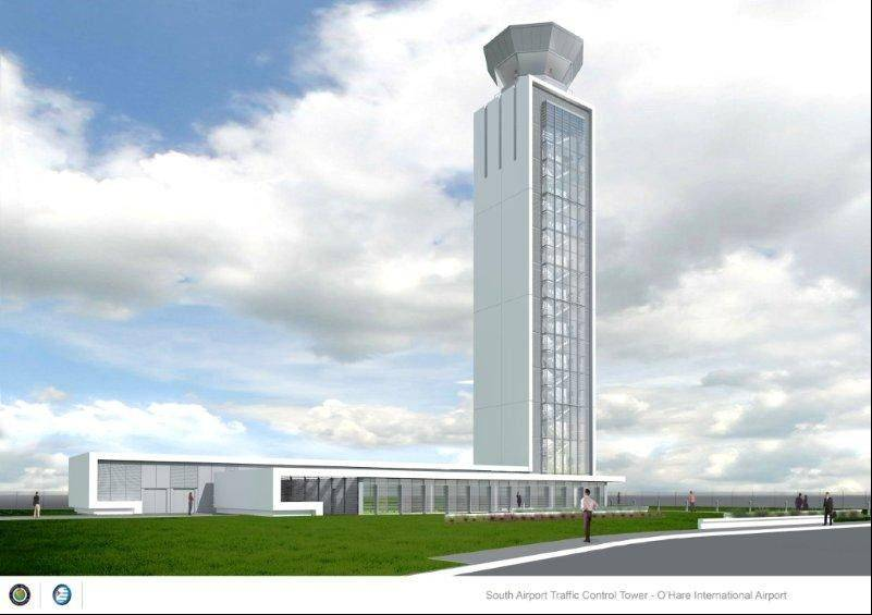 Illustration courtesy of the Federal Aviation Administration The new south air traffic control tower at O'Hare International Airport will open in fall 2015.