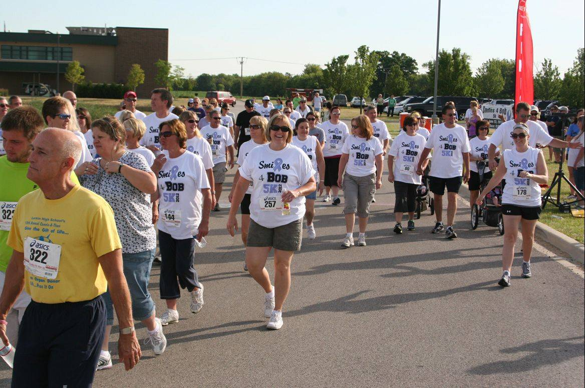 More than 350 racers came out for the first Smiles for Bob 5K last year. The race was started by Kayla and Meghan Geier in honor of their father, Bob Geier, who died of esophageal cancer in 2011.