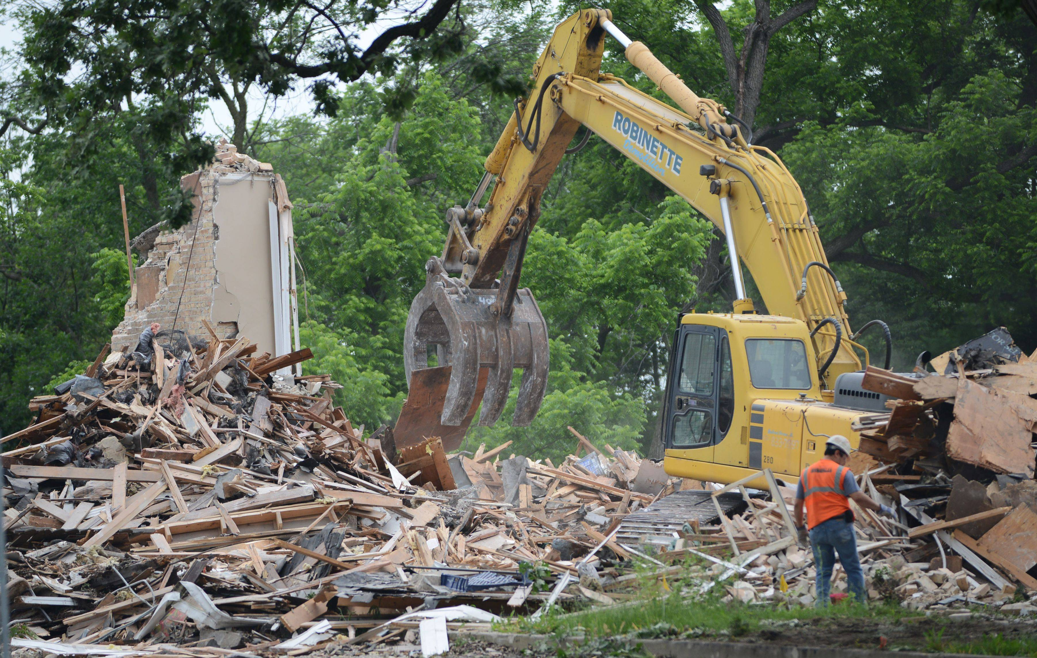 The former Country Squire restaurant in Grayslake is being torn down this week. There are no immediate plans for the property.