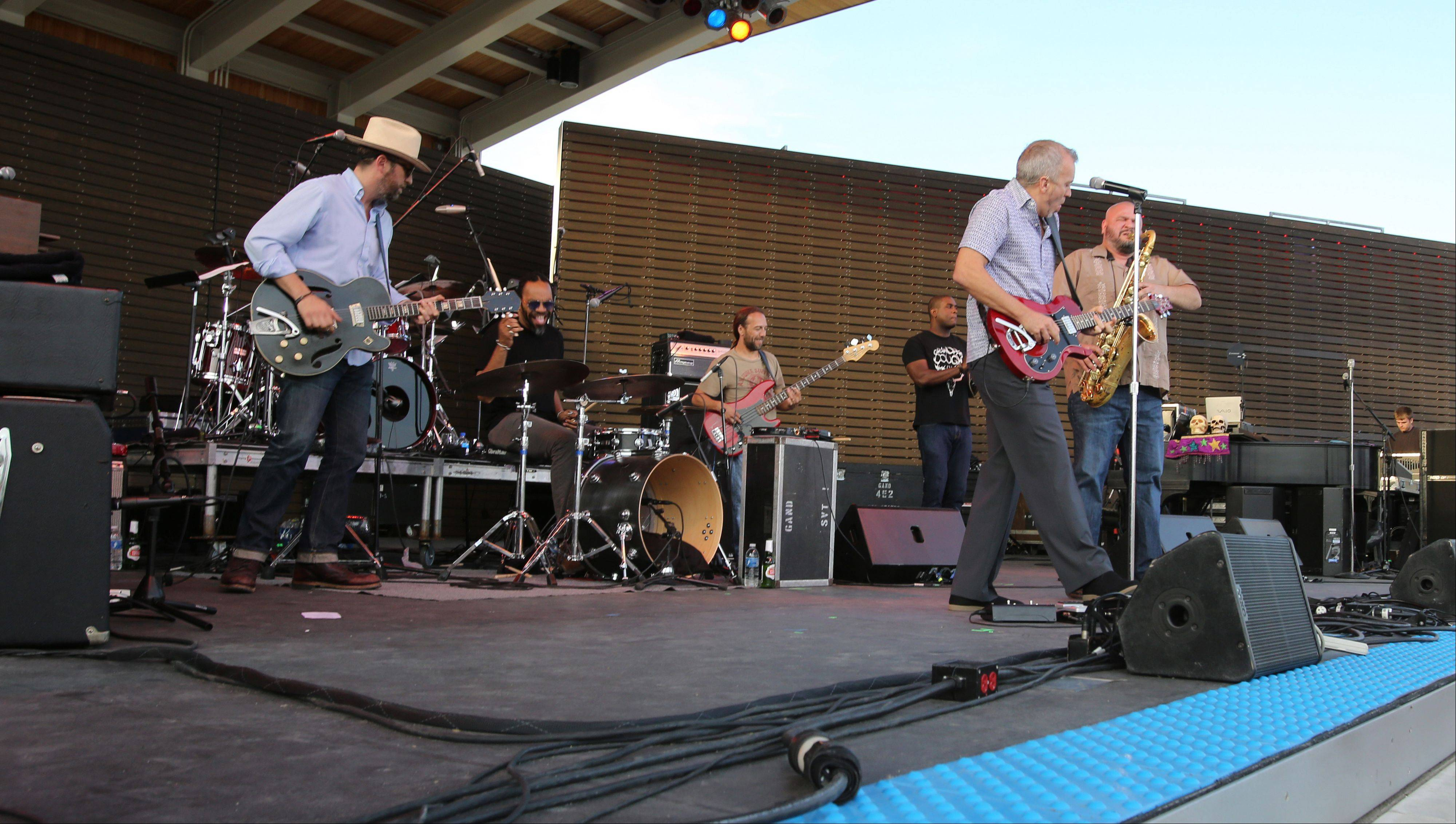 The band JJ Grey & Mofro, opens the new RiverEdge Park, coinciding with the 17th annual Blues on the Fox festival.