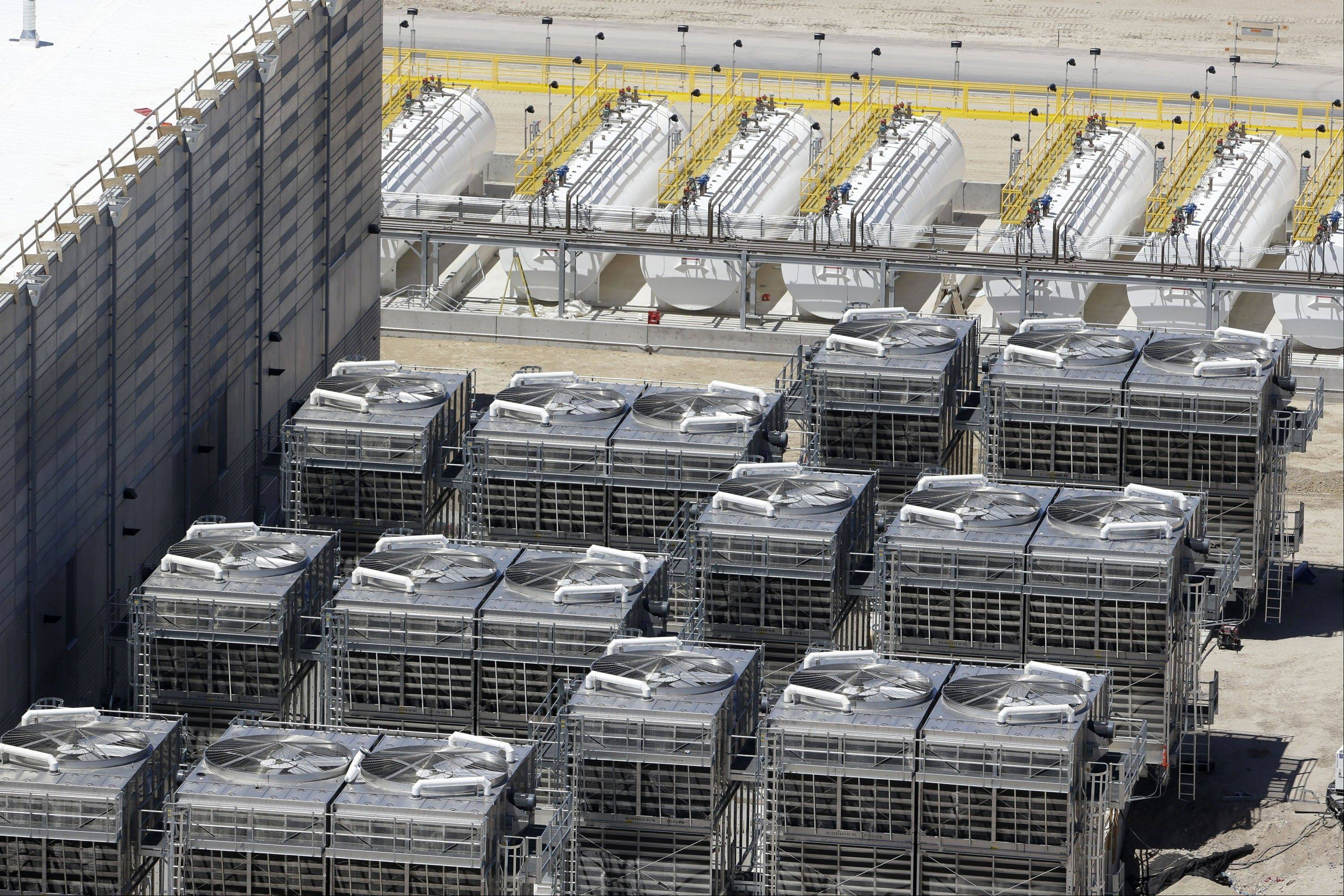 Associated Press/June 6, 2013 An aerial view of the cooling units at the NSA's Utah Data Center in Bluffdale, Utah.