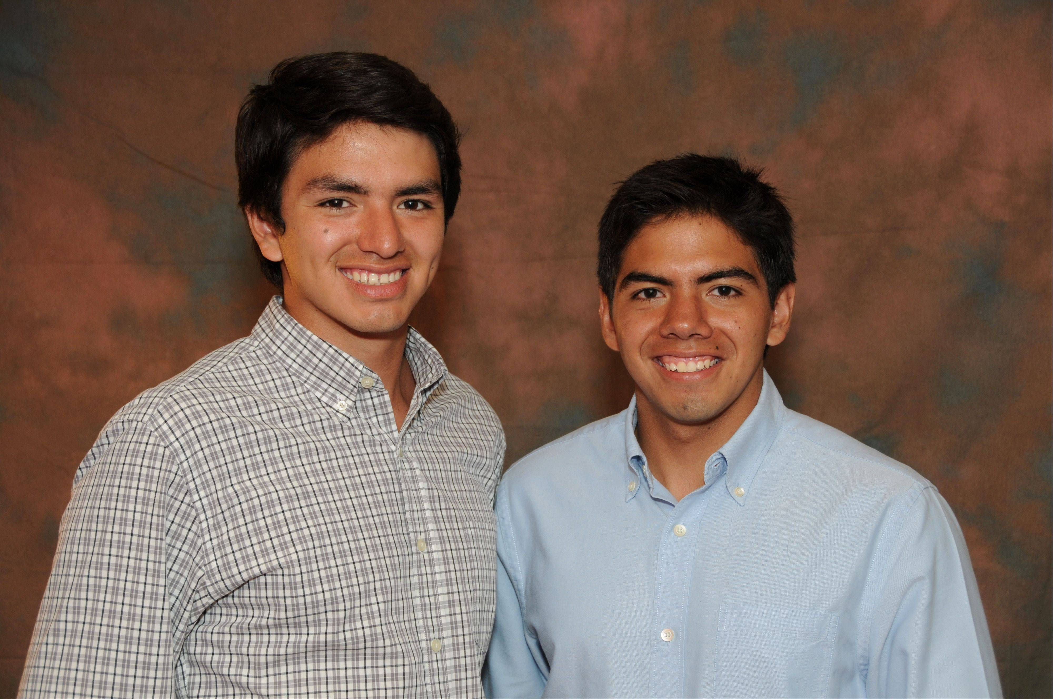Carlos, right, and Rafael Robles