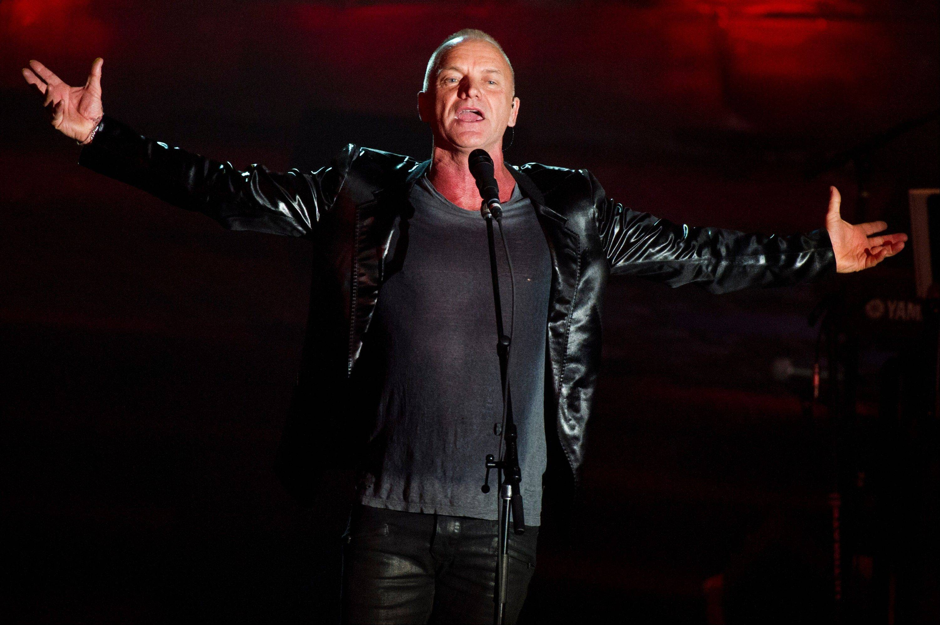 Sting performs at the Songwriters Hall of Fame 44th annual induction and awards gala on Thursday.