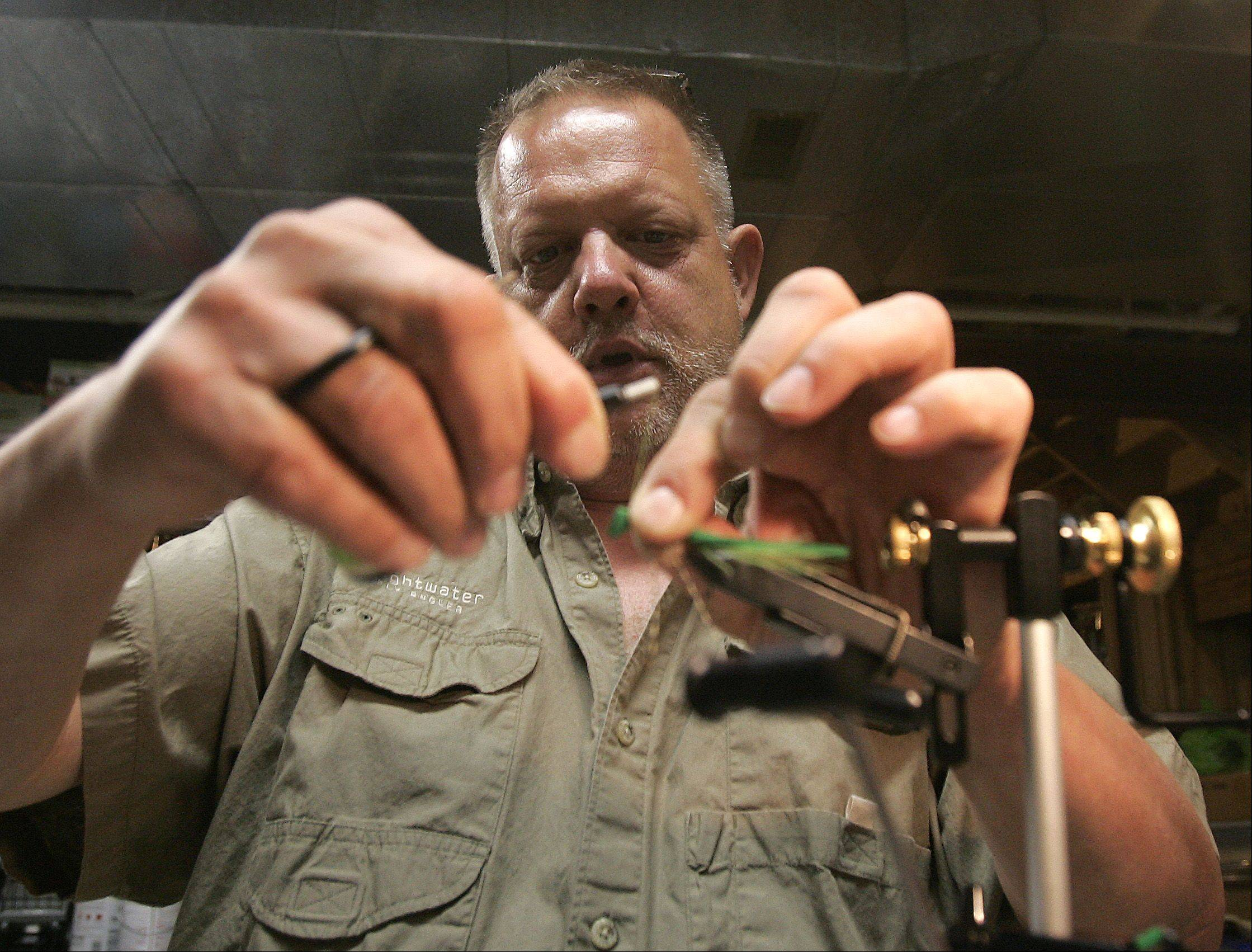 """Tying flies is a cheaper alternative. It's a good way to pass the time, especially in the winter,"" Domagalski says."