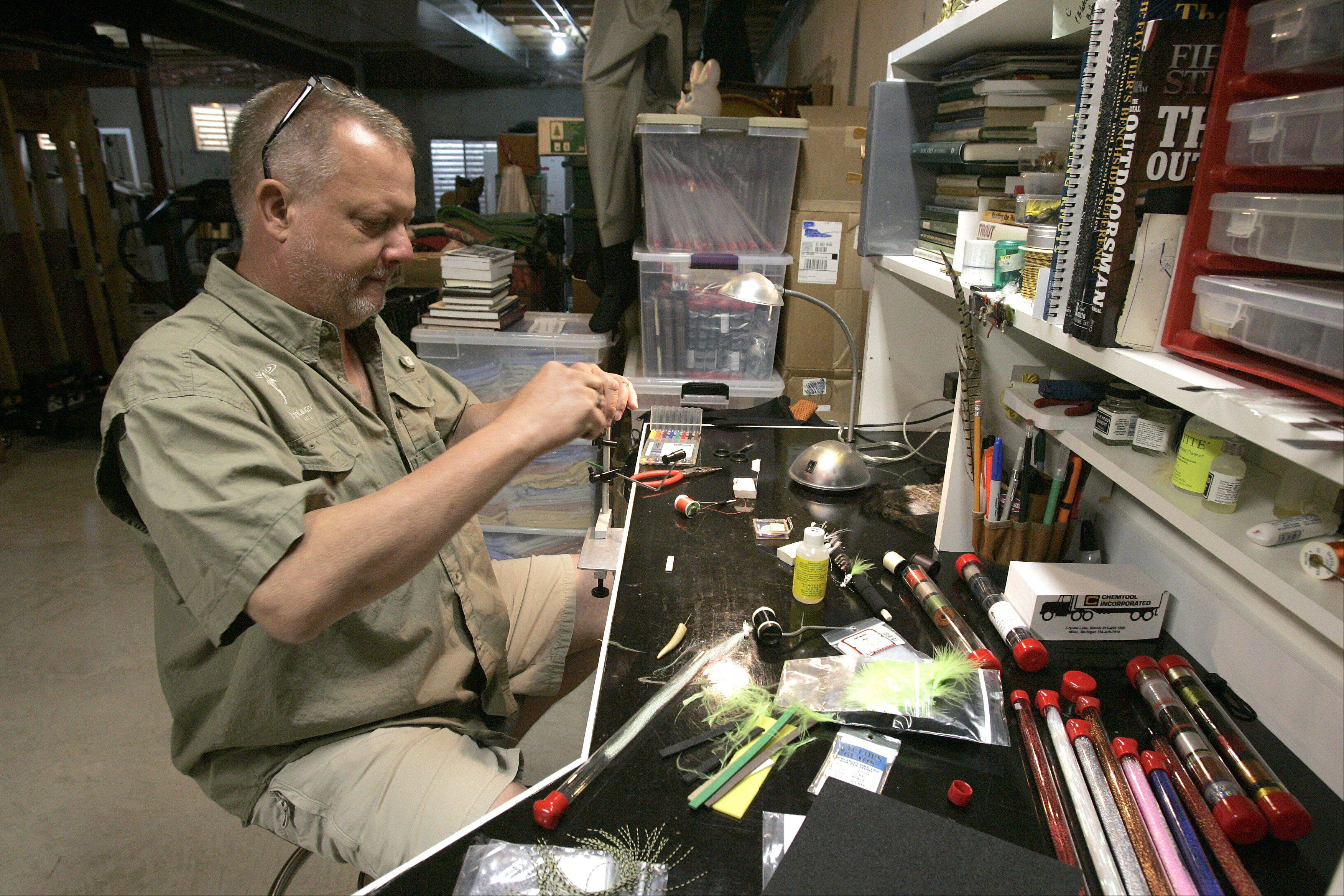 """Tying flies is a cheaper alternative. It's a good way to pass the time, especially in the winter,"" Domagalski said."