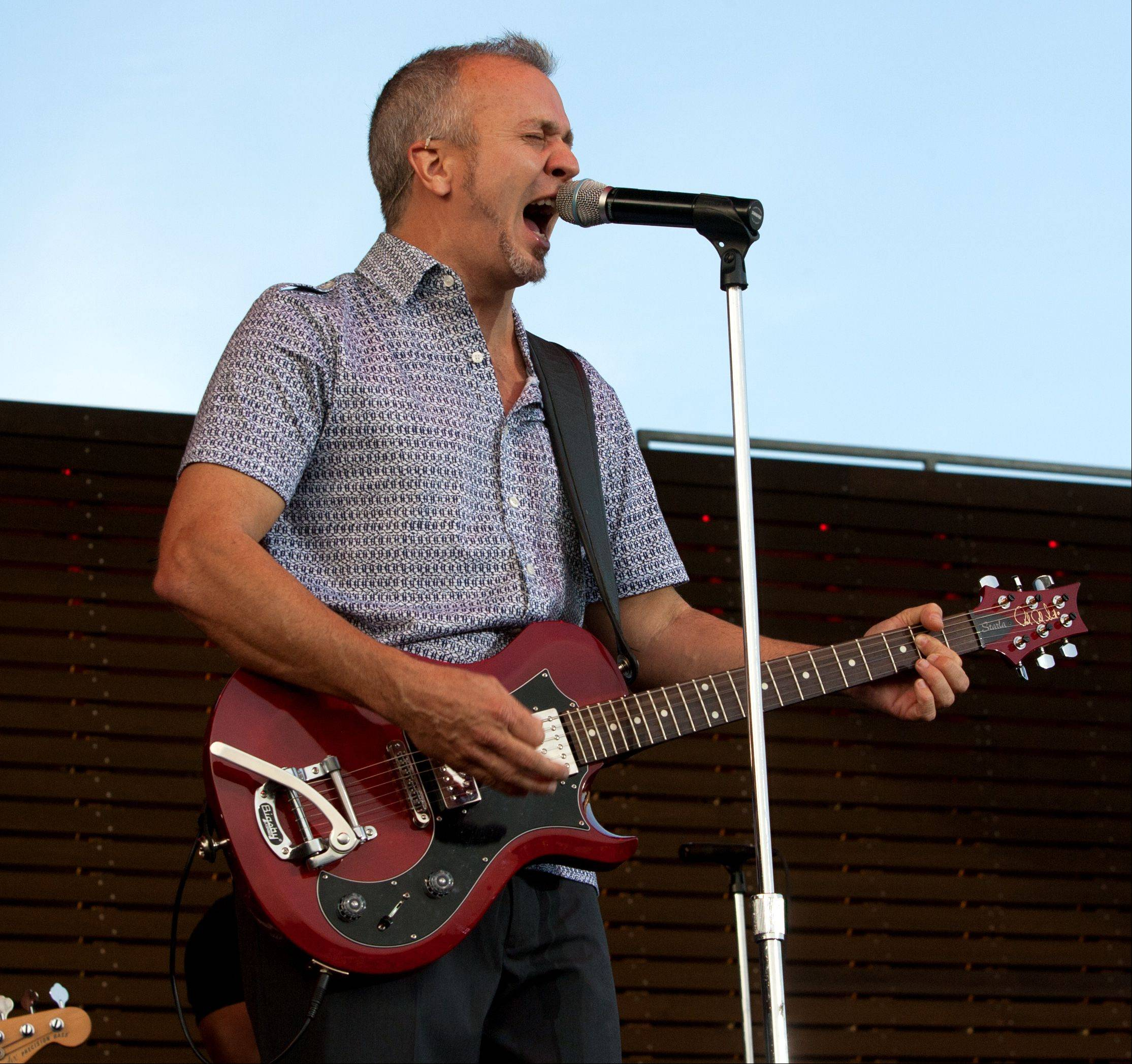 JJ Grey of the band JJ Grey & Mofro, opens the new RiverEdge Park, coinciding with the 17th annual Blues on the Fox festival.