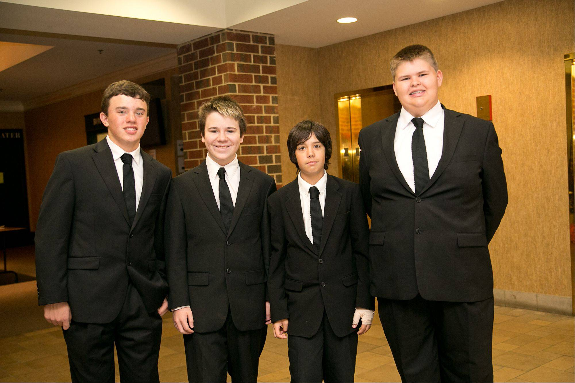 Merseyside -- featuring, from left, Patrick Ryan of Wheeling, Quinn Fitzsimons of Arlington Heights, Joel Smith of Arlington Heights and Sean Ryan of Arlington Heights -- is one of the Top 30 finalists in Suburban Chicago's Got Talent.