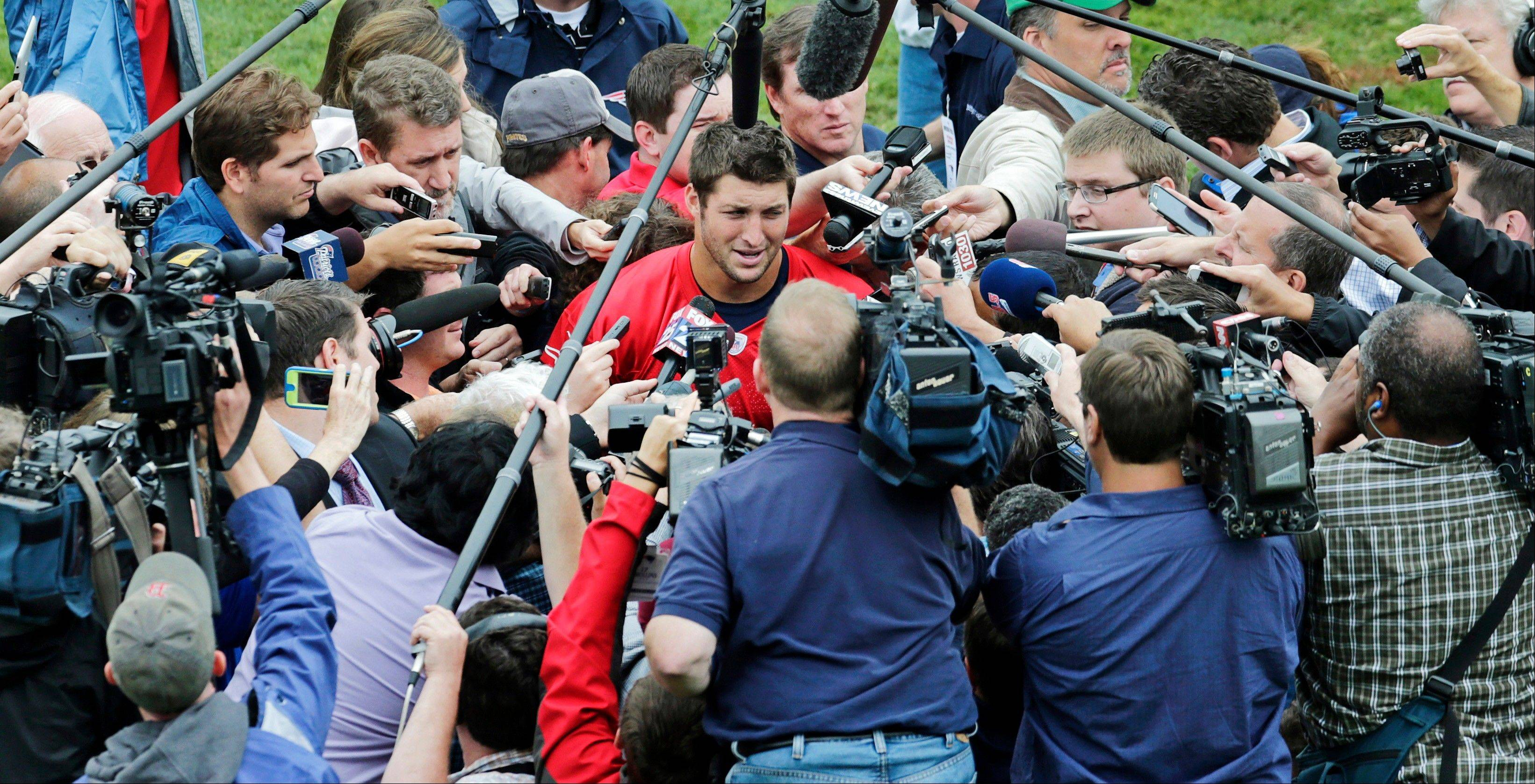 Quarterback Tim Tebow's arrival at New England Patriots minicamp this week created quite a media event.