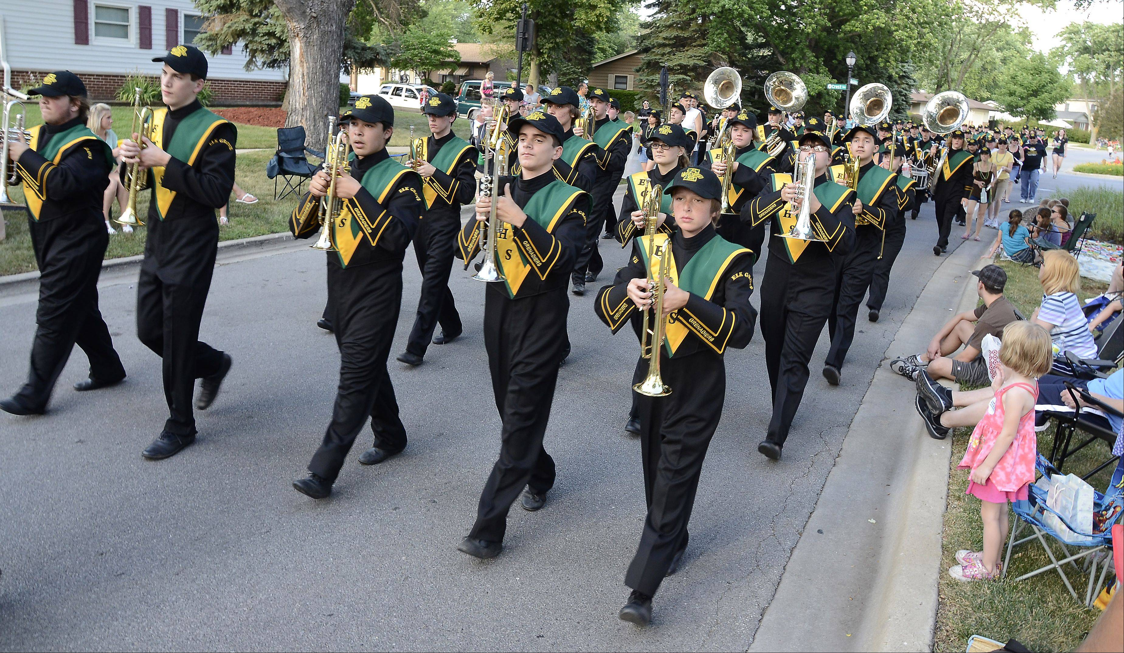 The Grenadiers perform during a previous Elk Grove Village Hometown Parade.