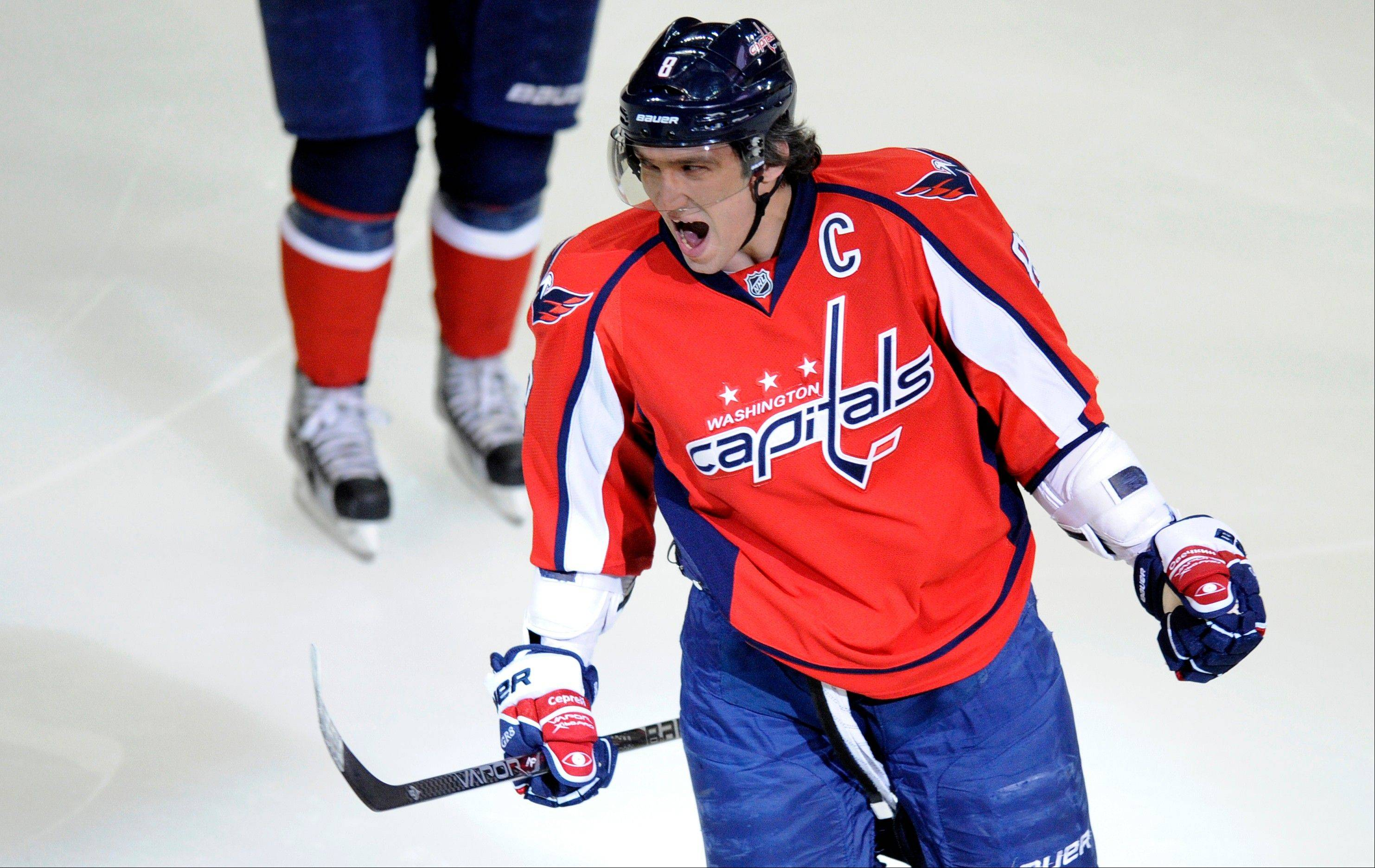Washington Capitals winger Alex Ovechkin has won the NHL's Hart Trophy, given to the league's most valuable player, three times.