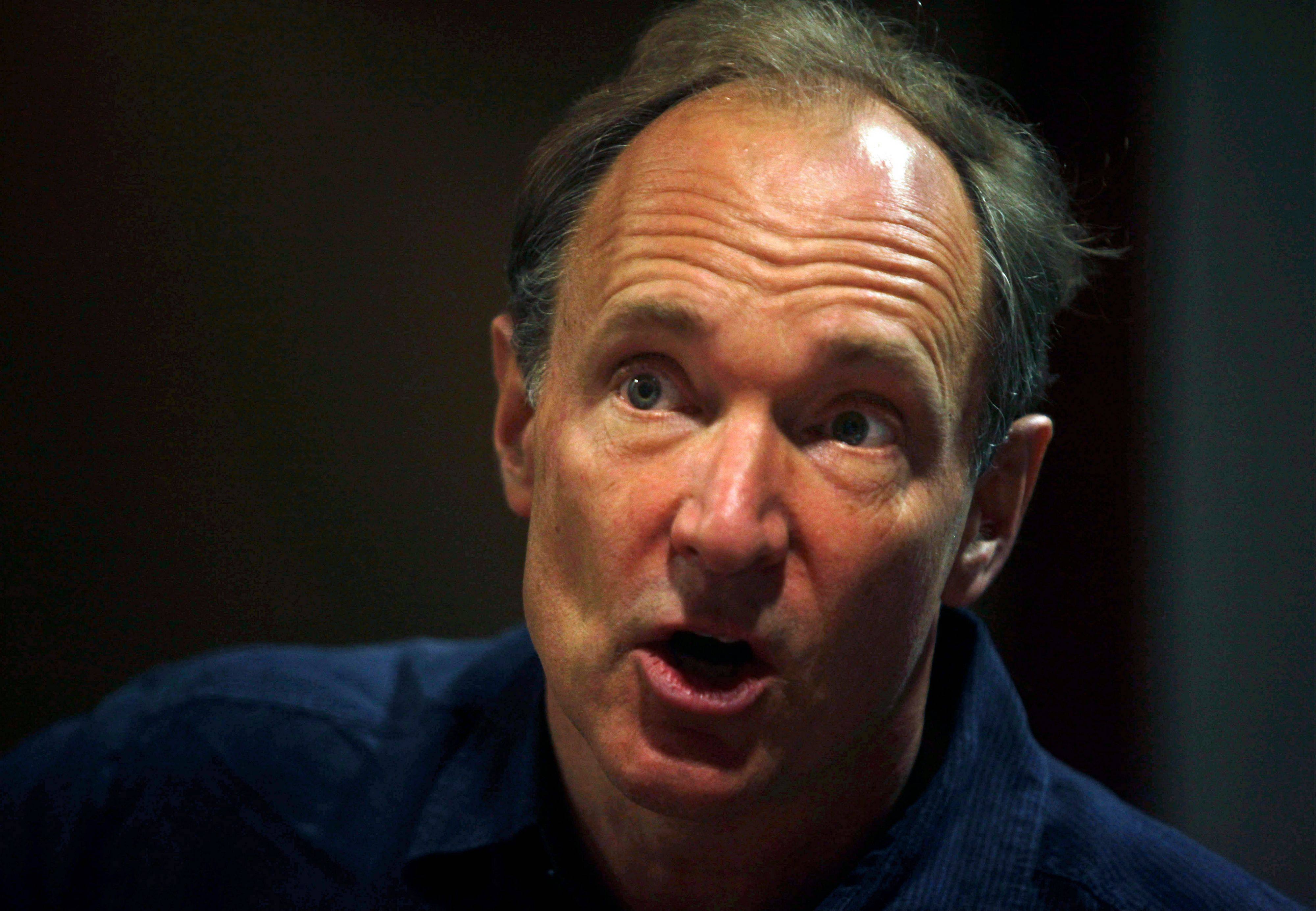 In this Thursday, March 31, 2011 file photo, World Wide Web inventor Tim Berners-Lee addresses the media during the International World Wide Web conference in Hyderabad, India.
