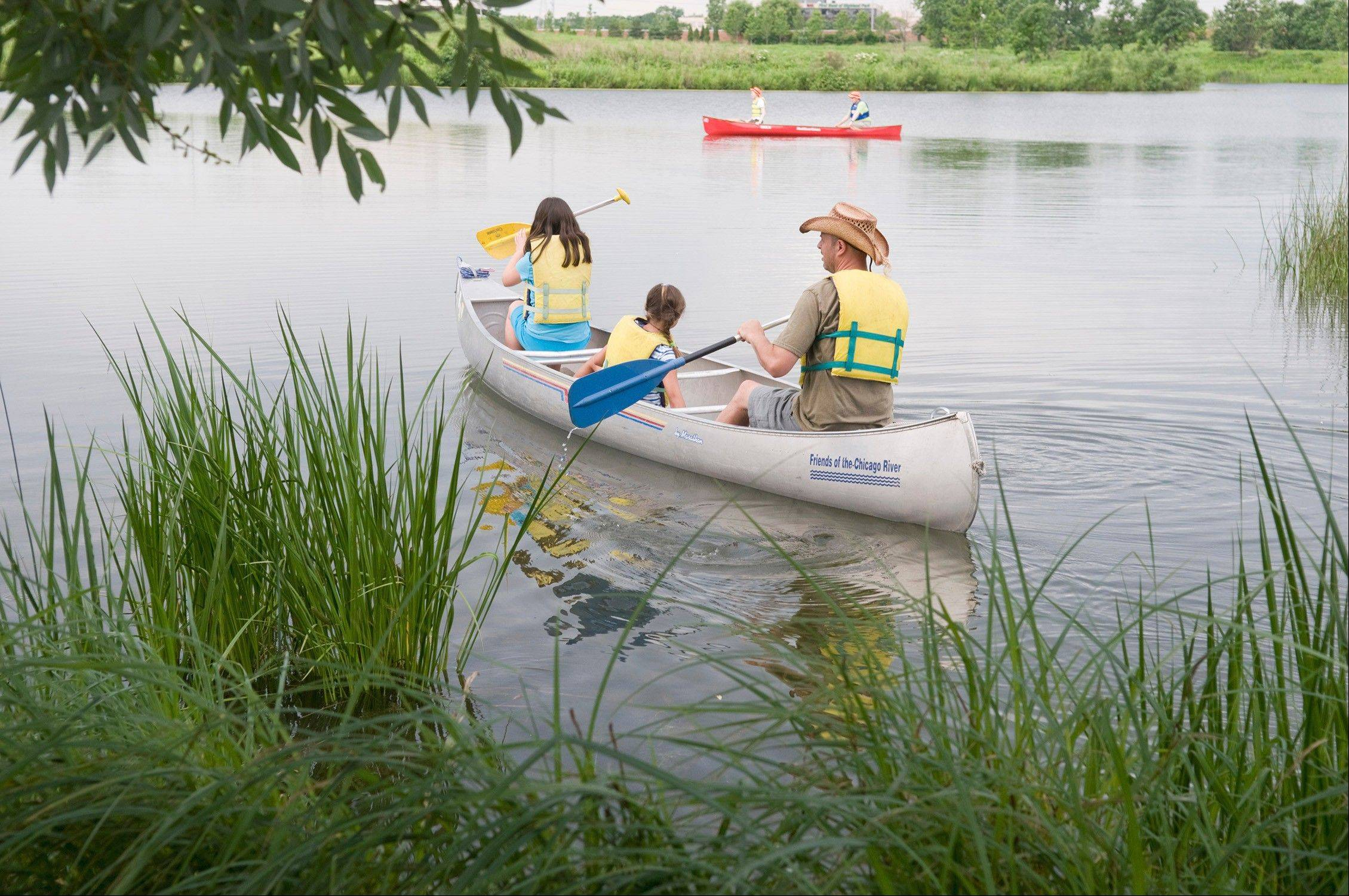 Spend Father's Day paddling around the Chicago Botanic Garden.