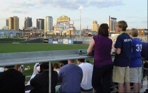 Birmingham Barons fans check out Regions Field on opening day.
