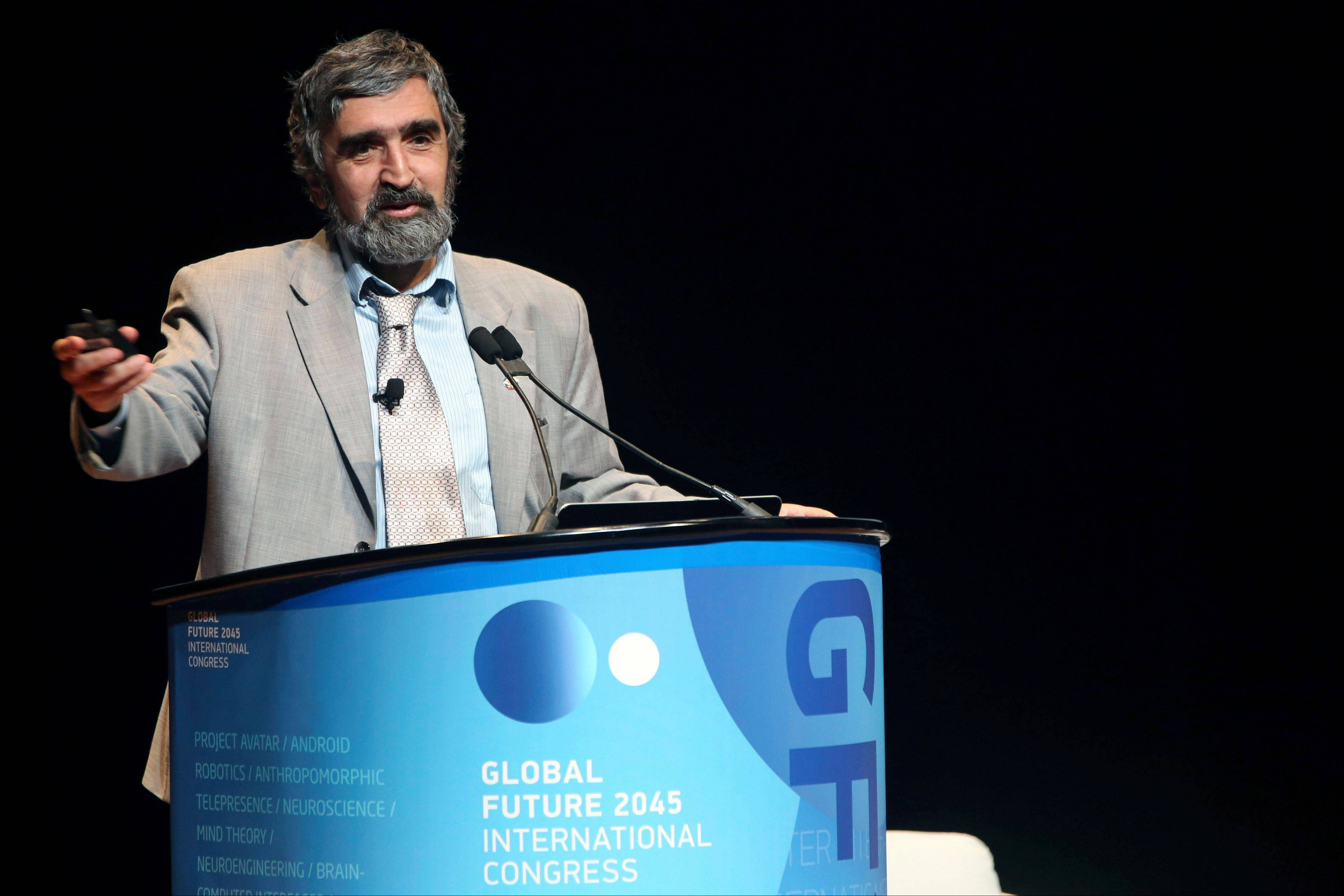 Dr. Akop Nazaretyan speaks Saturday at the Global Future 2045 Congress.