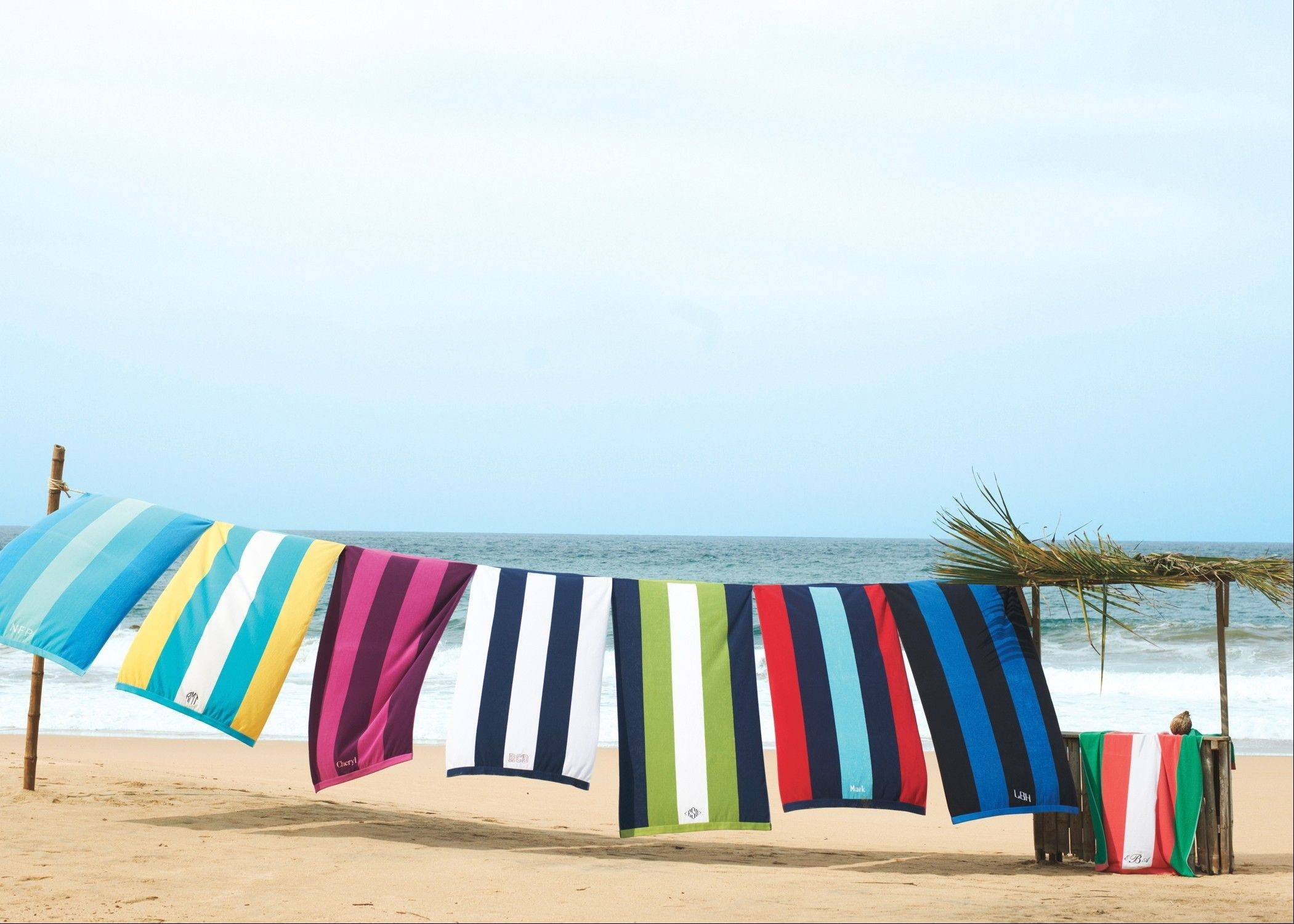 Use the Vertical Rugby Stripe Beach Towel, $17.40, Lands' End stores and landsend.com, to lay out or dry off. This versatile towel measures at 6� feet and offers UPF +50 UV protection.