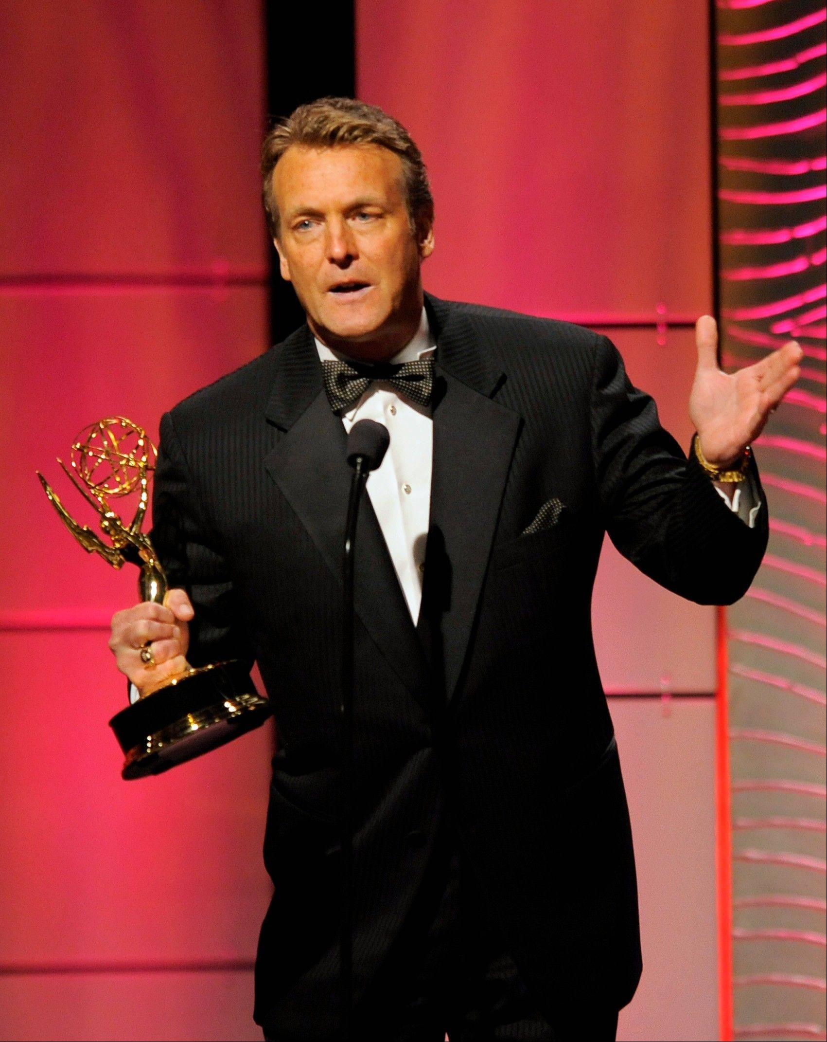 "Doug Davidson accepts the award for outstanding lead actor in a drama series for ""The Young and the Restless"" at the 40th Annual Daytime Emmy Awards on Sunday, June 16, 2013, in Beverly Hills, Calif."