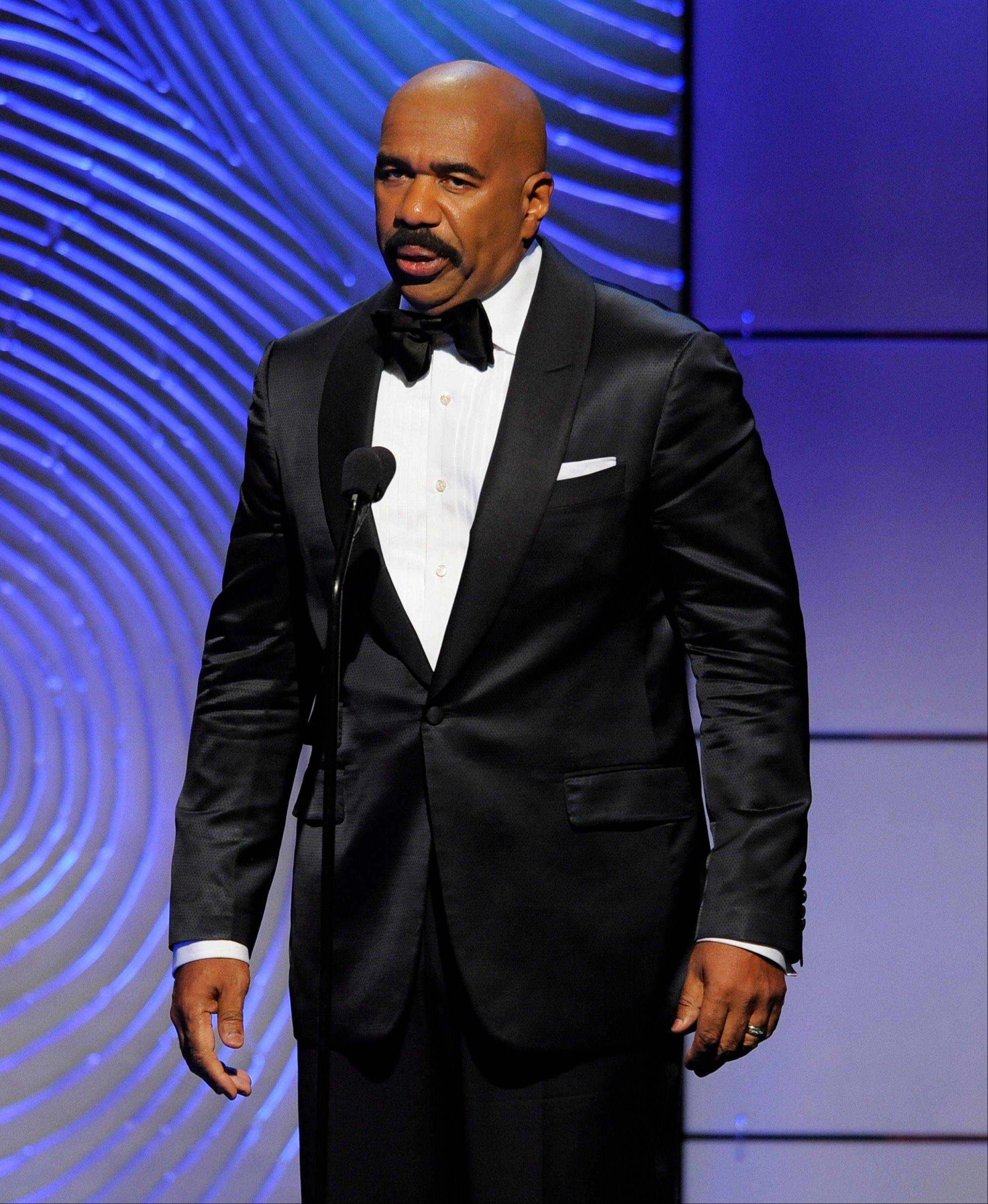 Steve Harvey speaks on stage at the 40th Annual Daytime Emmy Awards on Sunday, June 16, 2013, in Beverly Hills, Calif.