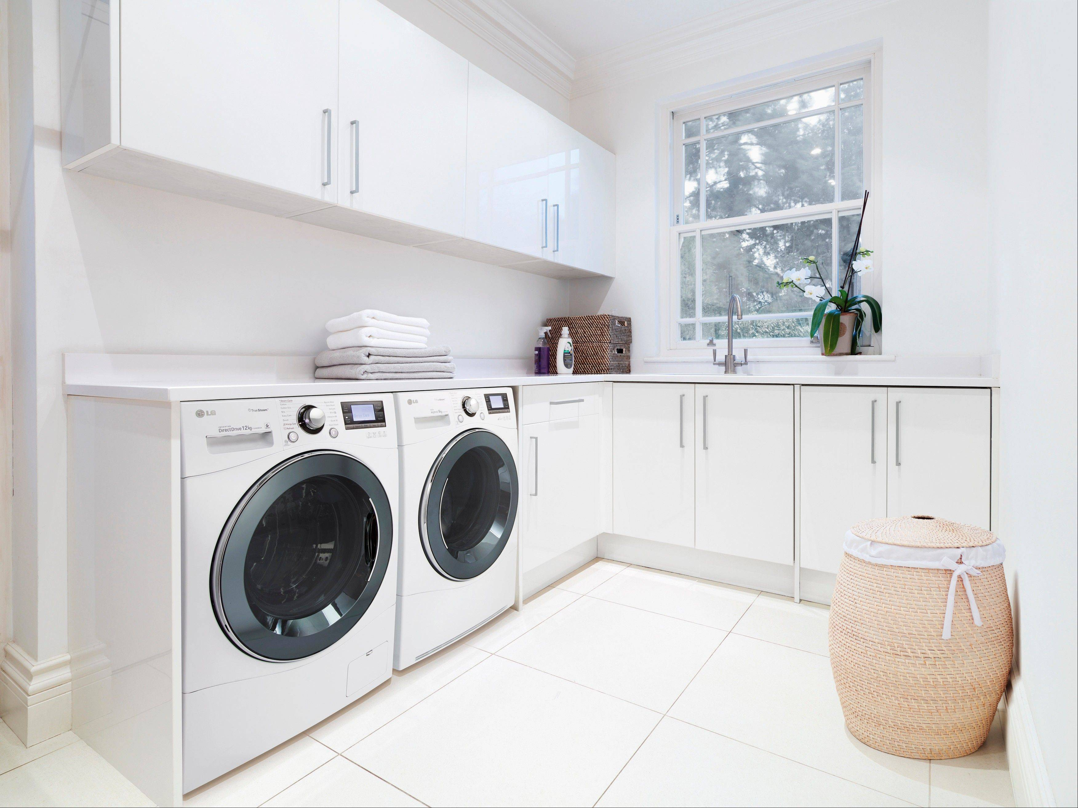 LG's washing machine, with a Direct Drive motor, runs much quieter than conventional machines.