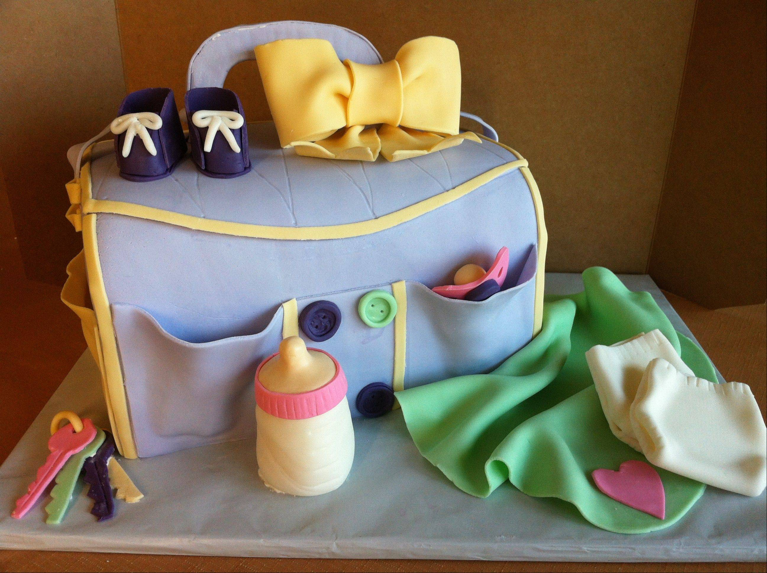 Sweet Occasions Cake Studio specializes in an array of cakes. This diaper bag is all edible.